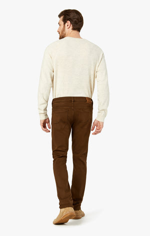 Cool Slim Leg Jeans In Brown Comfort