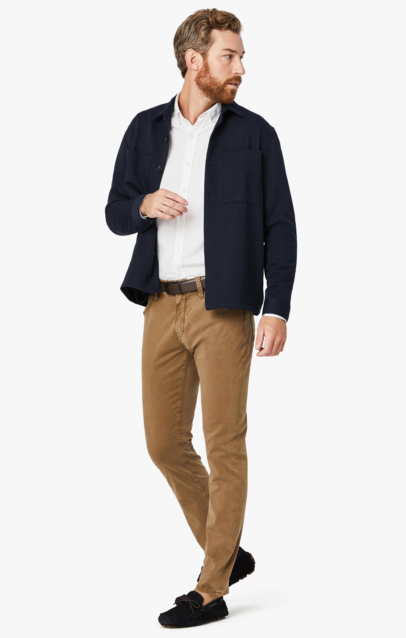 Cool Tapered Leg Pants In Tobacco Twill Image 1
