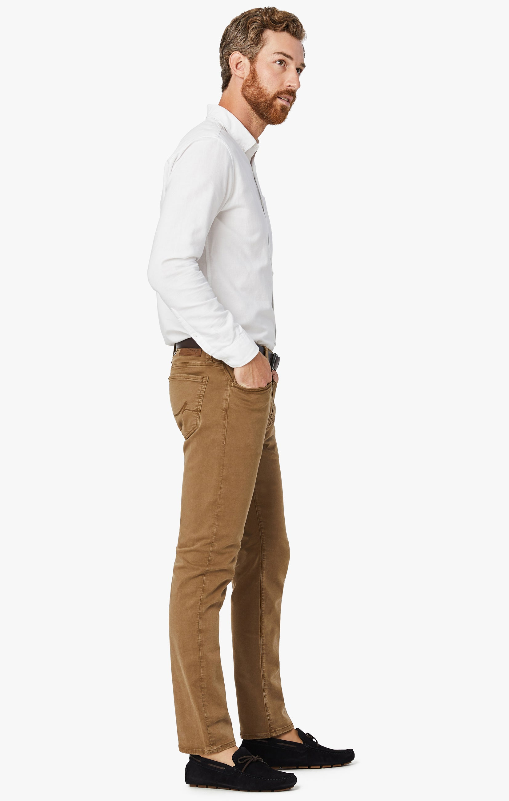 Cool Tapered Leg Pants In Tobacco Twill Image 6