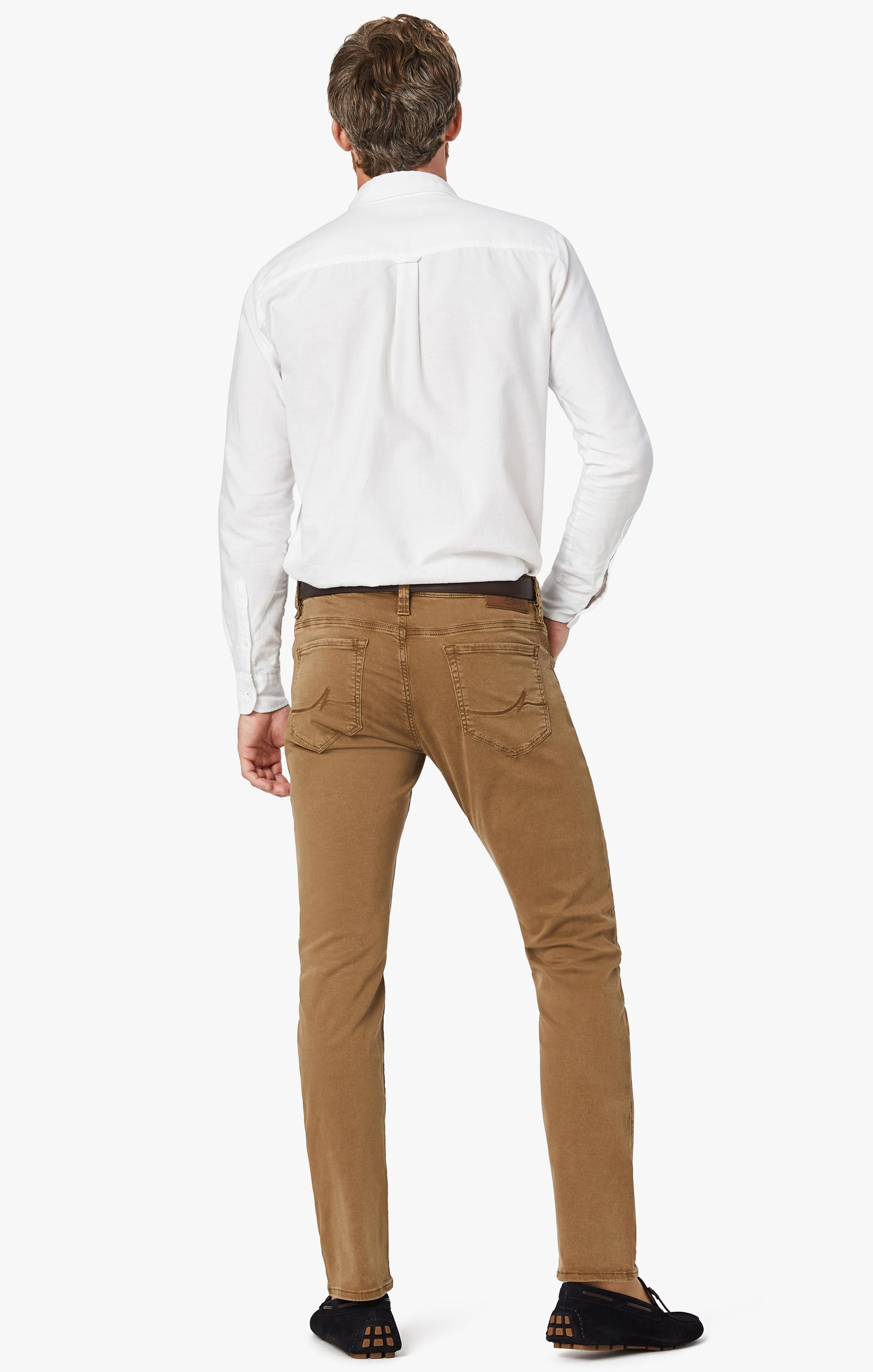 Cool Tapered Leg Pants In Tobacco Twill Image 8