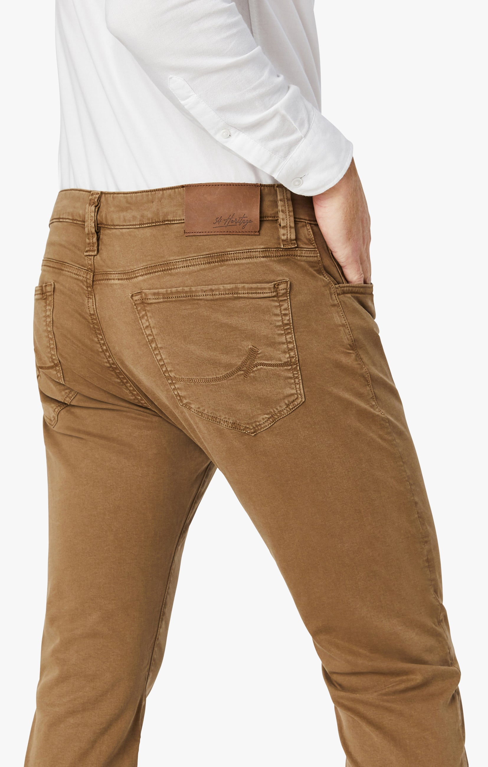 Cool Tapered Leg Pants In Tobacco Twill Image 3