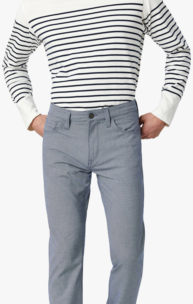 Cool Slim Leg Pants in Blue Mini Checked