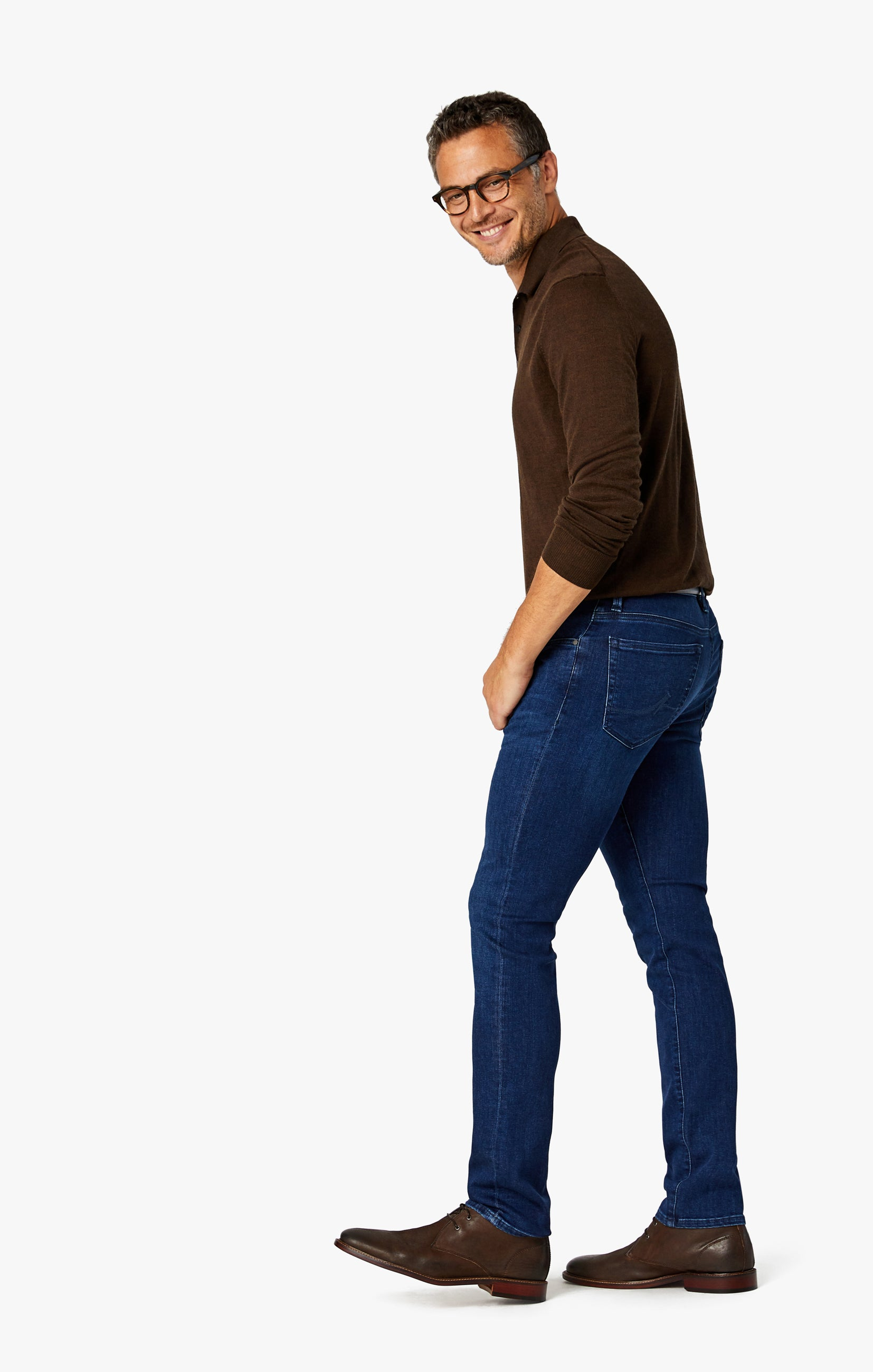 Cool Slim Leg Jeans in Dark Shaded Ultra Image 8