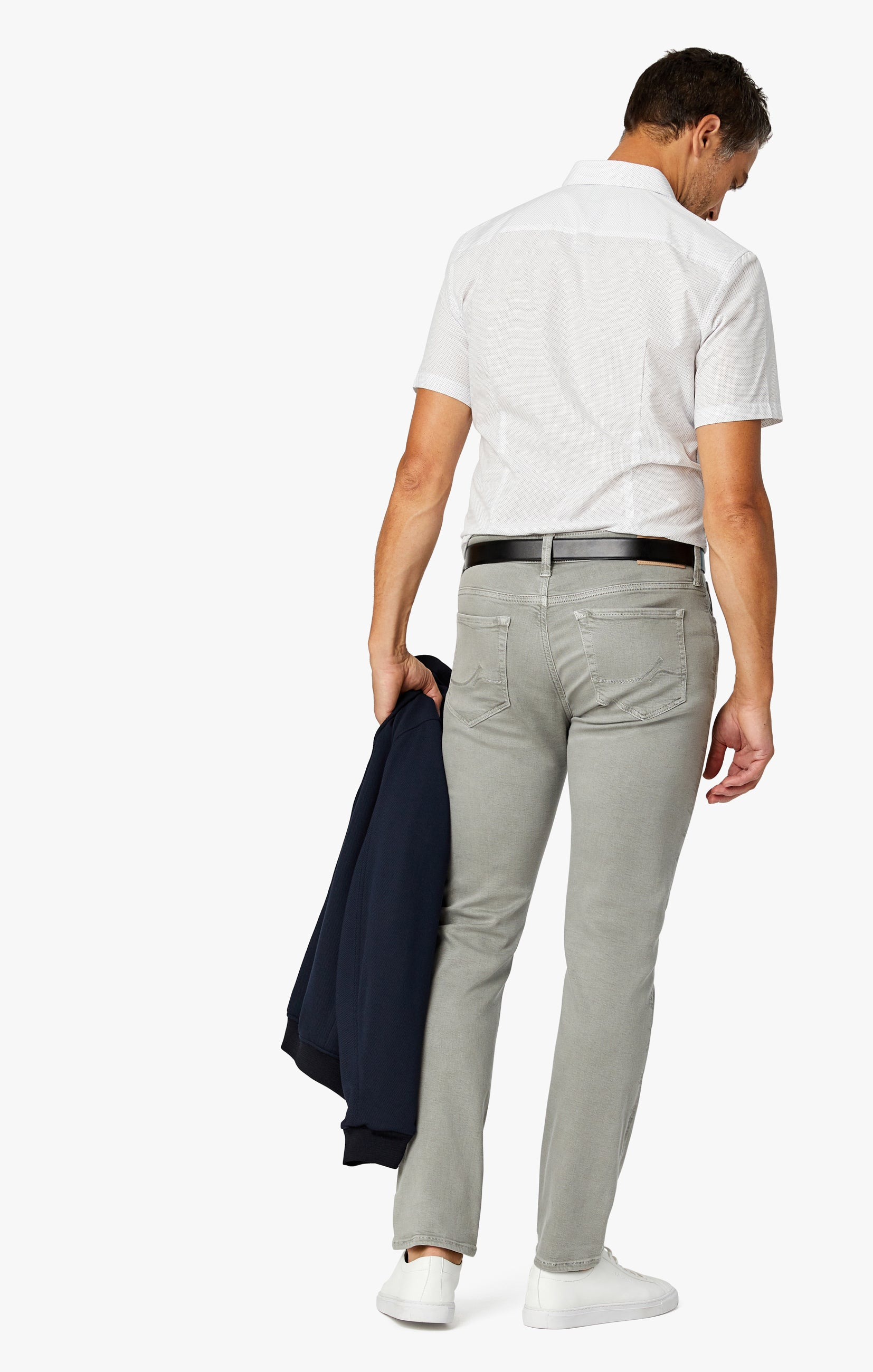 Cool Slim Leg Pants in Light Grey Comfort Image 3