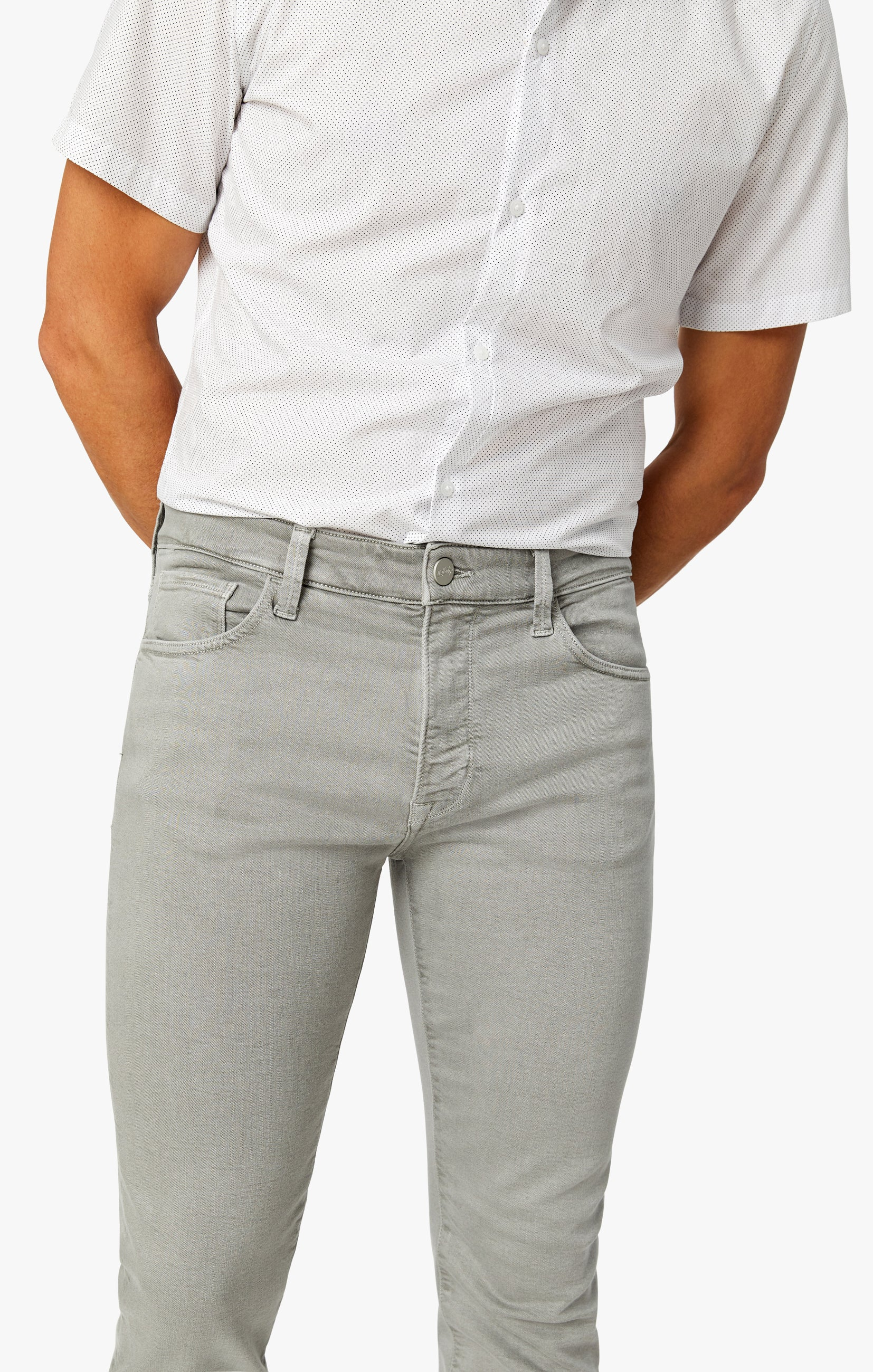 Cool Slim Leg Pants in Light Grey Comfort Image 1