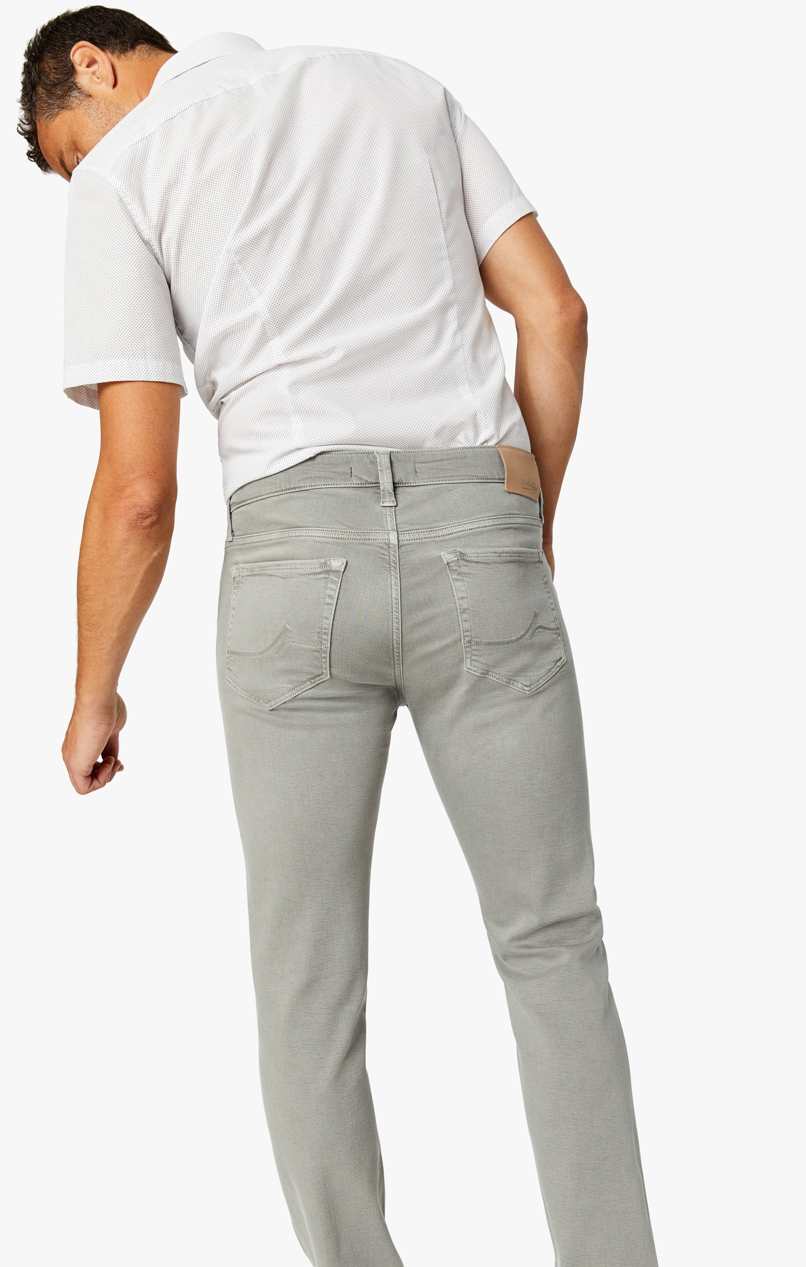 Cool Slim Leg Pants in Light Grey Comfort Image 4