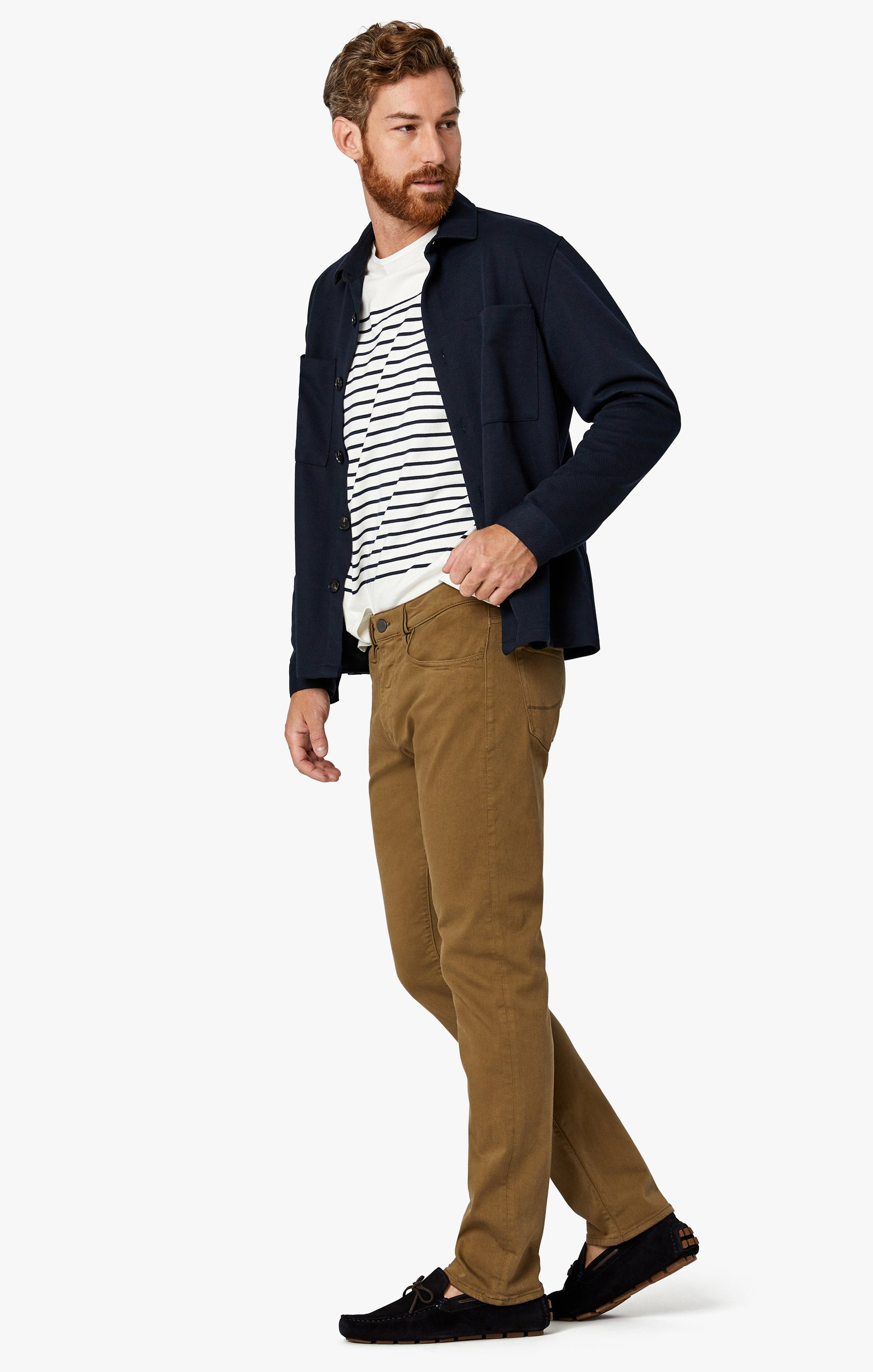 Cool Tapered Leg Pants In Tobacco Comfort Image 5