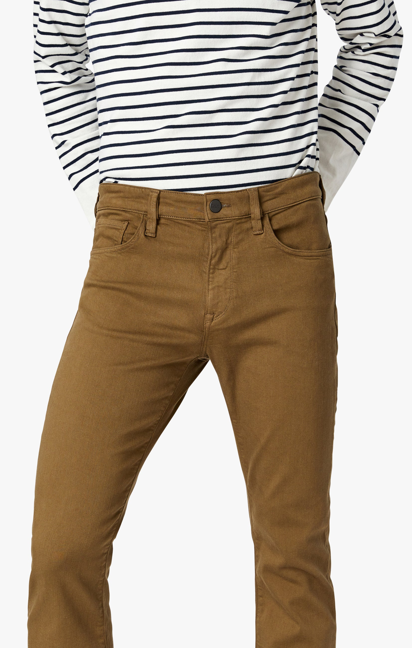 Cool Tapered Leg Pants In Tobacco Comfort Image 7