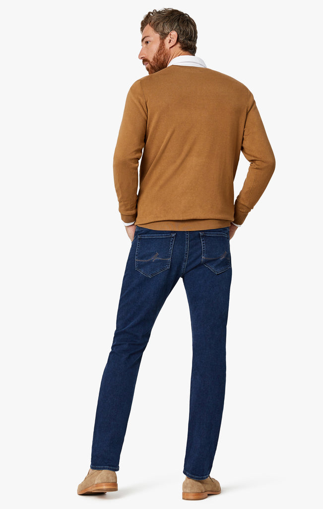 Cool Tapered Leg Jeans In Dark Brushed Smart Casual