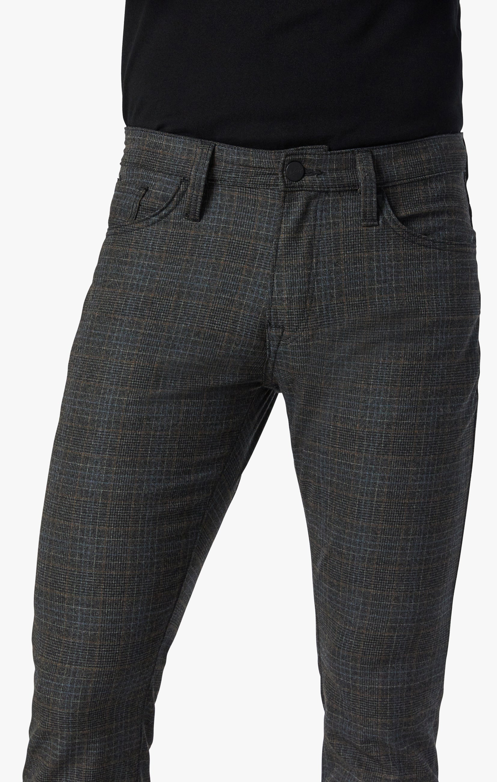 Cool Tapered Leg Pants In Smoke Fancy Checked Image 8
