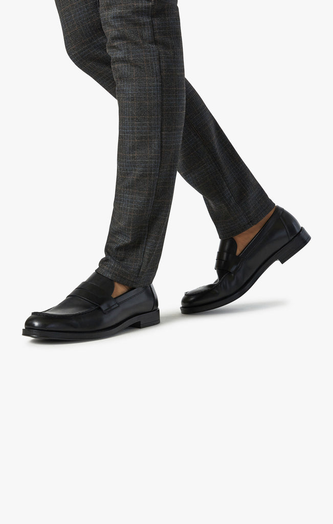 Cool Tapered Leg Pants In Smoke Fancy Checked