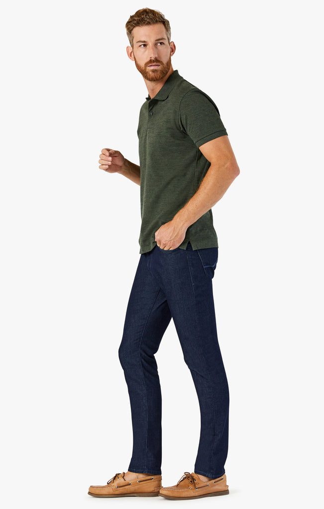 Cool Tapered Leg Jeans In Rinse Sporty