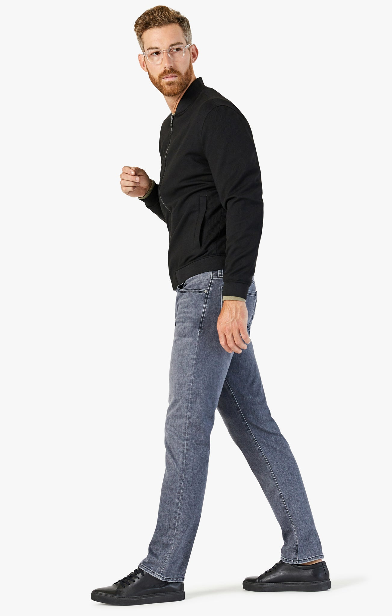 Cool Tapered Leg Jeans In Smoke Kona