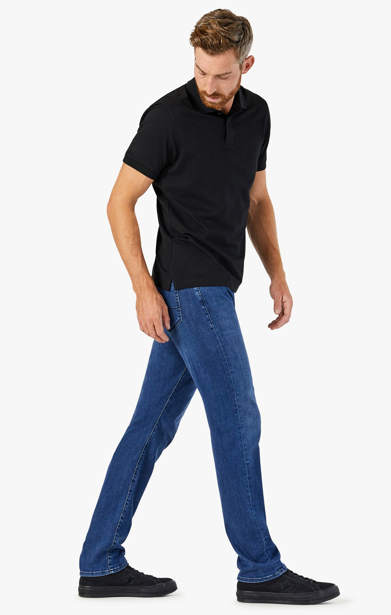 Cool Tapered Leg Jeans In Dark Indigo Ultra