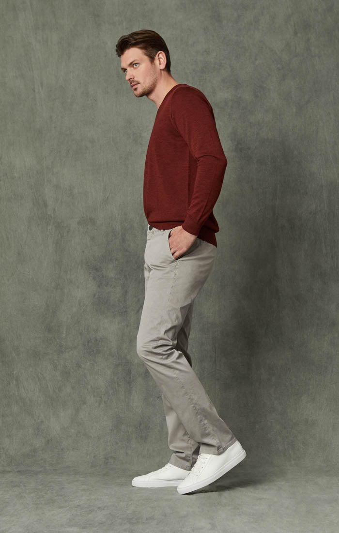 Naples Straight Leg Chino Pants in Griffin Washed Twill Image 2