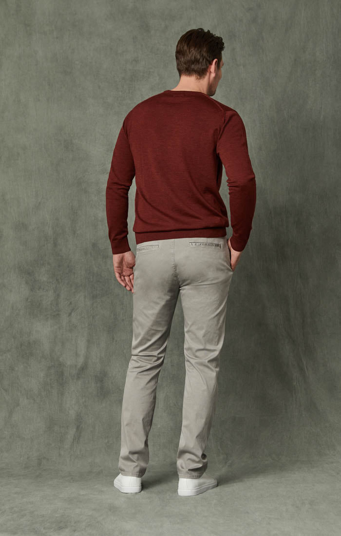 Naples Straight Leg Chino Pants in Griffin Washed Twill Image 3