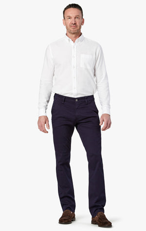Naples Straight Leg Chino Pants in Navy Washed Twill