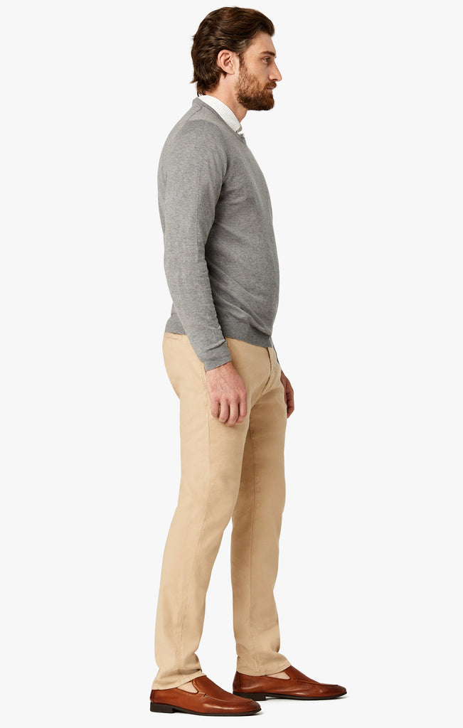 Naples Straight Leg Chino Pants in Sand Linen