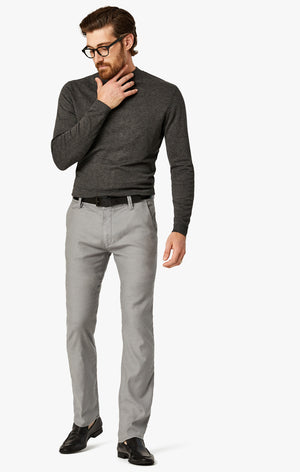 Naples Straight Leg Chino Pants in Grey Linen