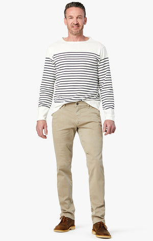 Naples Straight Leg Chino Pants in Vintage Khaki Washed Twill