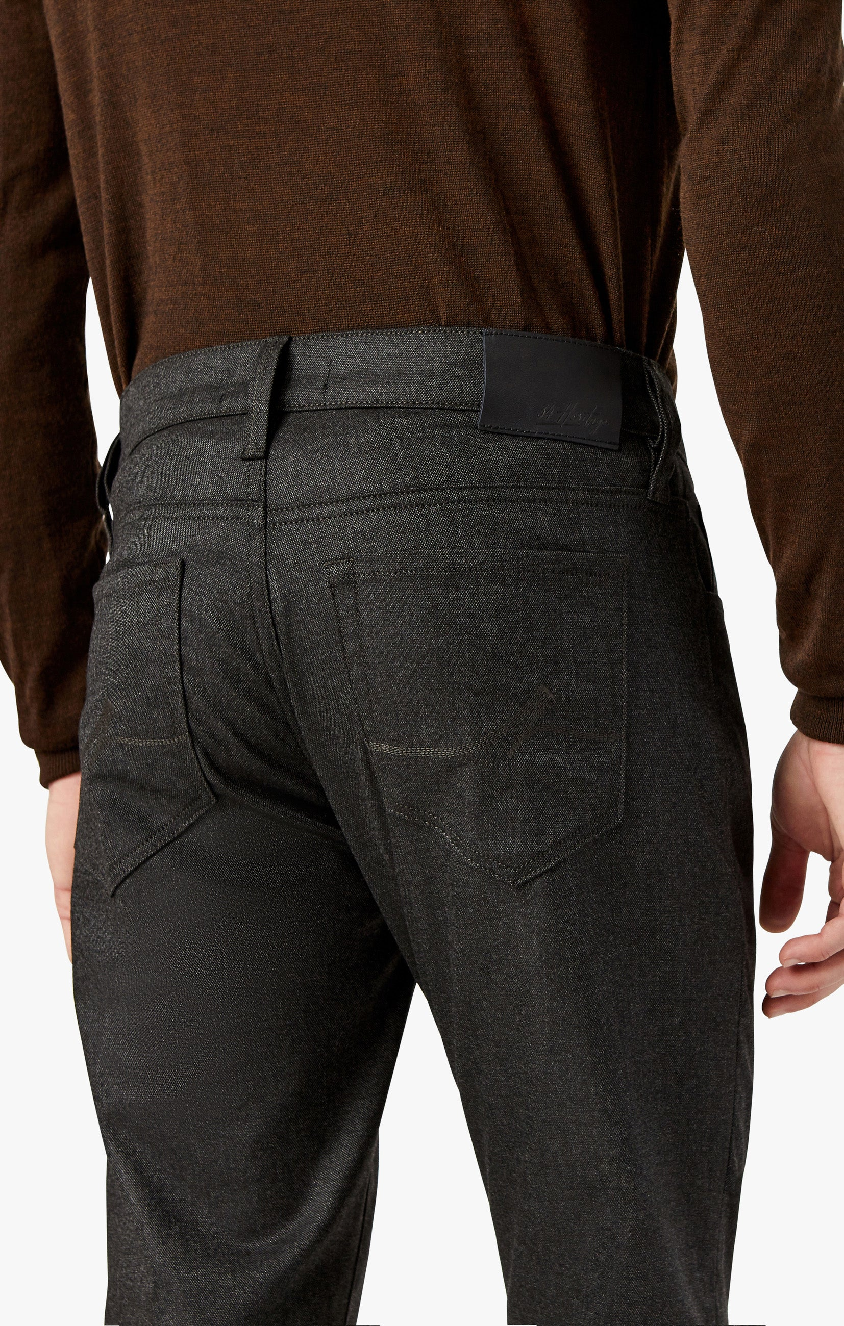 Naples Straight Leg Chino Pants in Smoke Feather Tweed Image 6