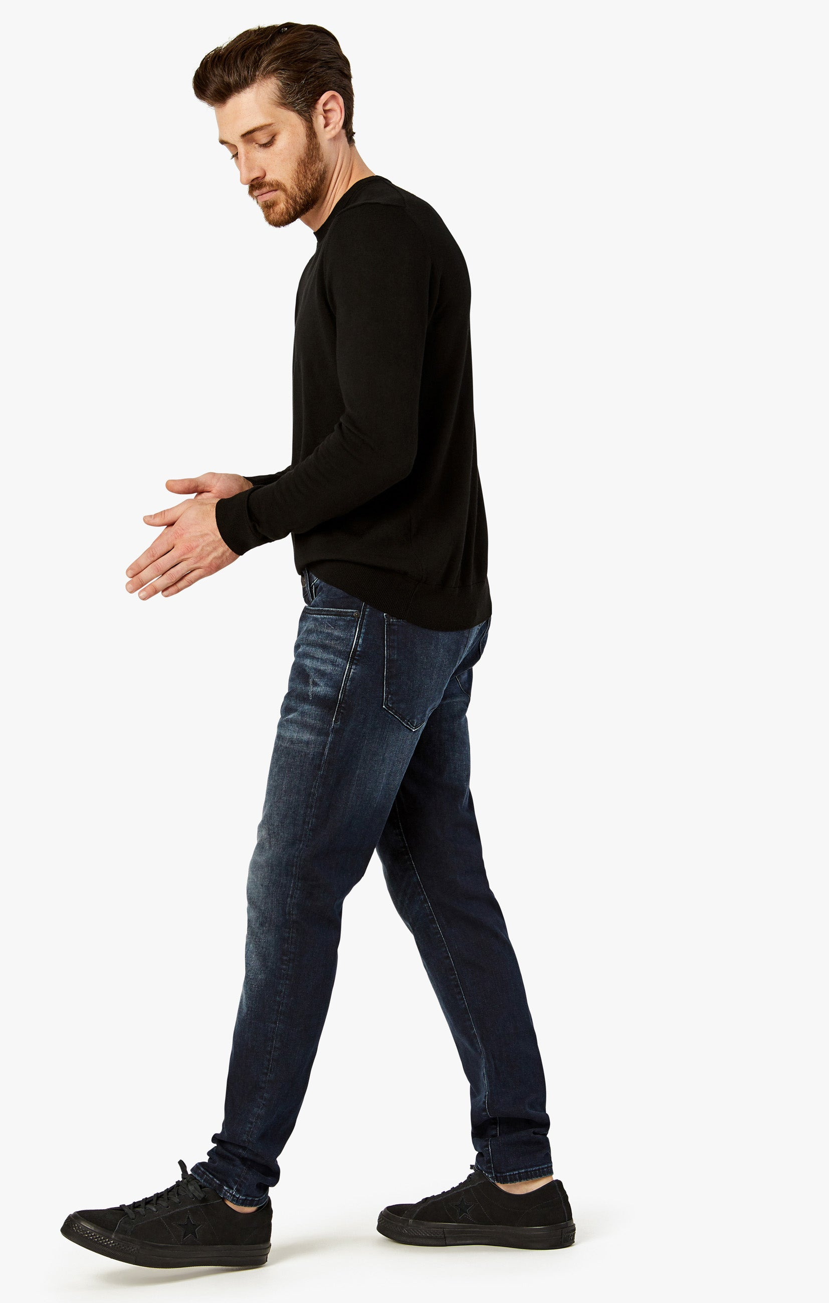 Calm Skinny Leg Jeans In Deep Authentic Image 4
