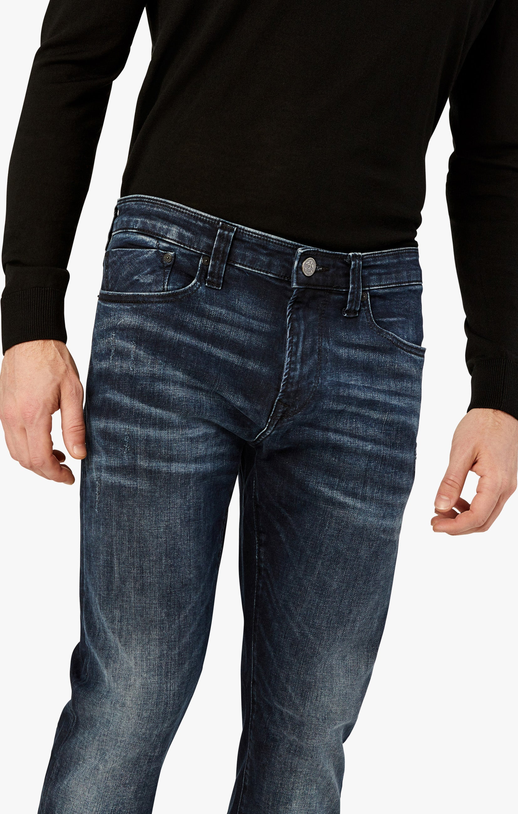Calm Skinny Leg Jeans In Deep Authentic Image 6