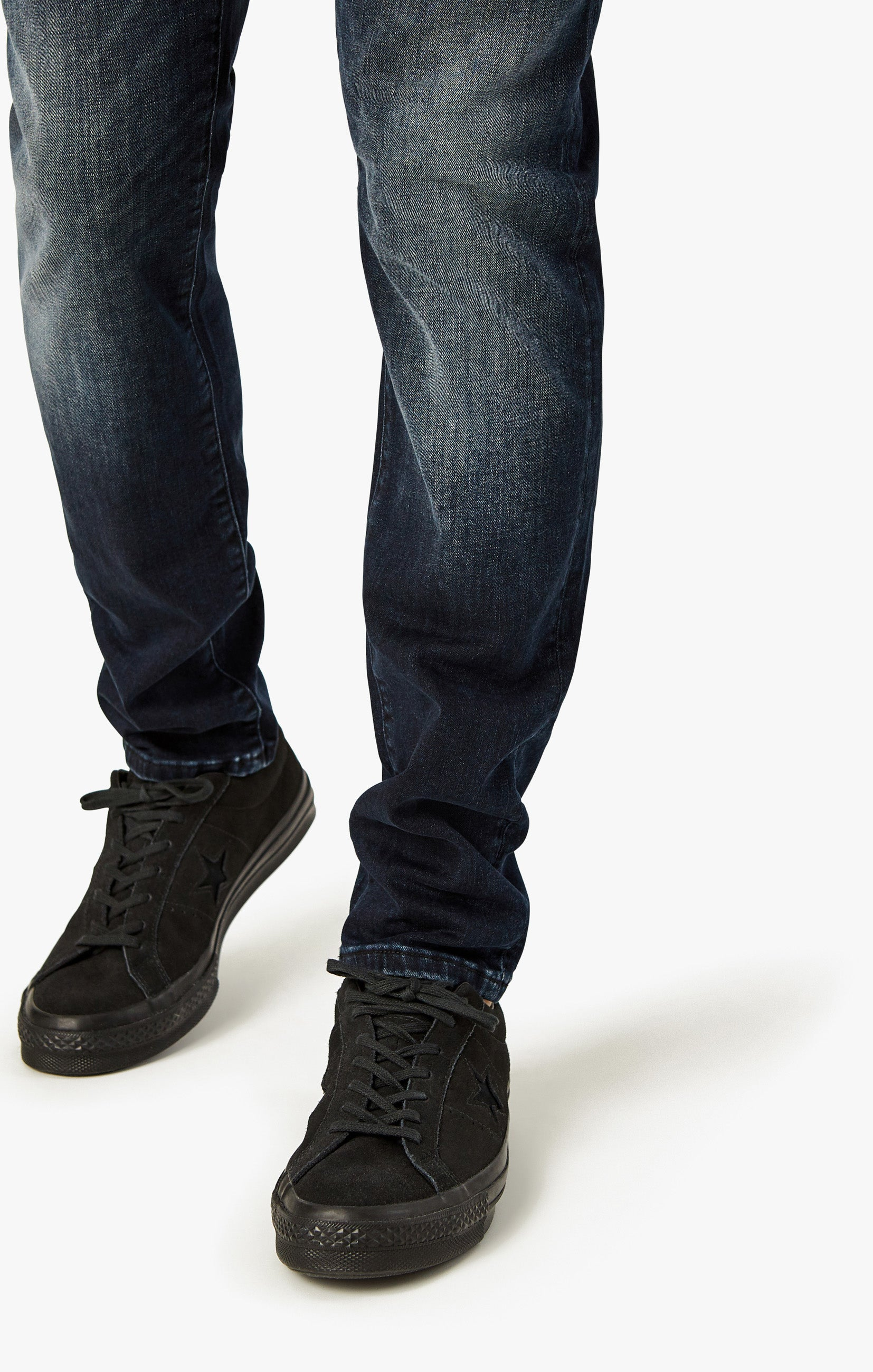 Calm Skinny Leg Jeans In Deep Authentic Image 5
