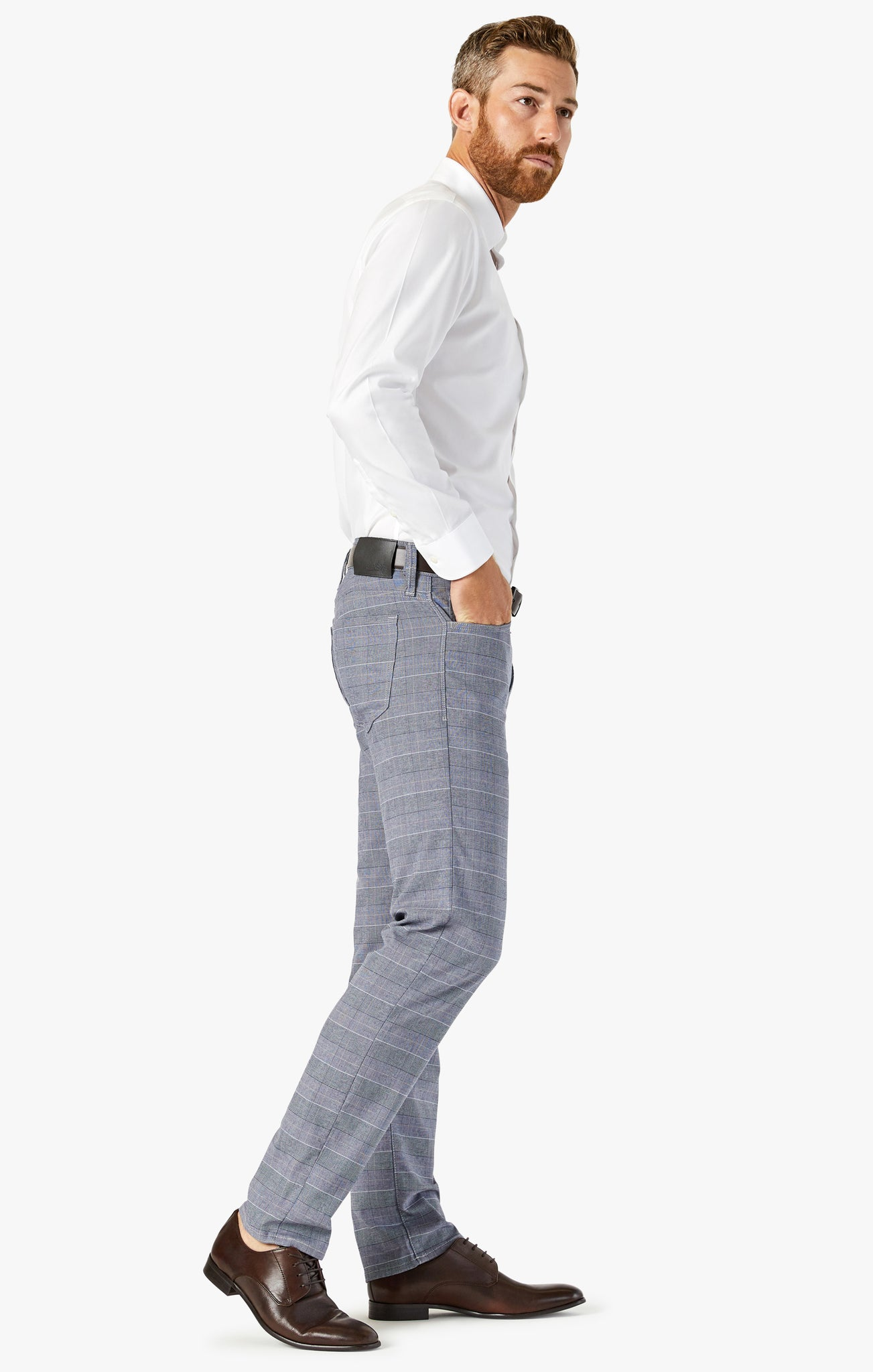Calm Skinny Leg Pants in Anthracite Checked