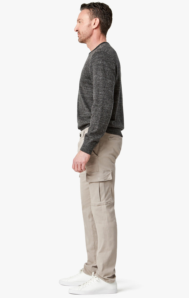 Carson Slim Leg Cargo Pants in Sand Twill