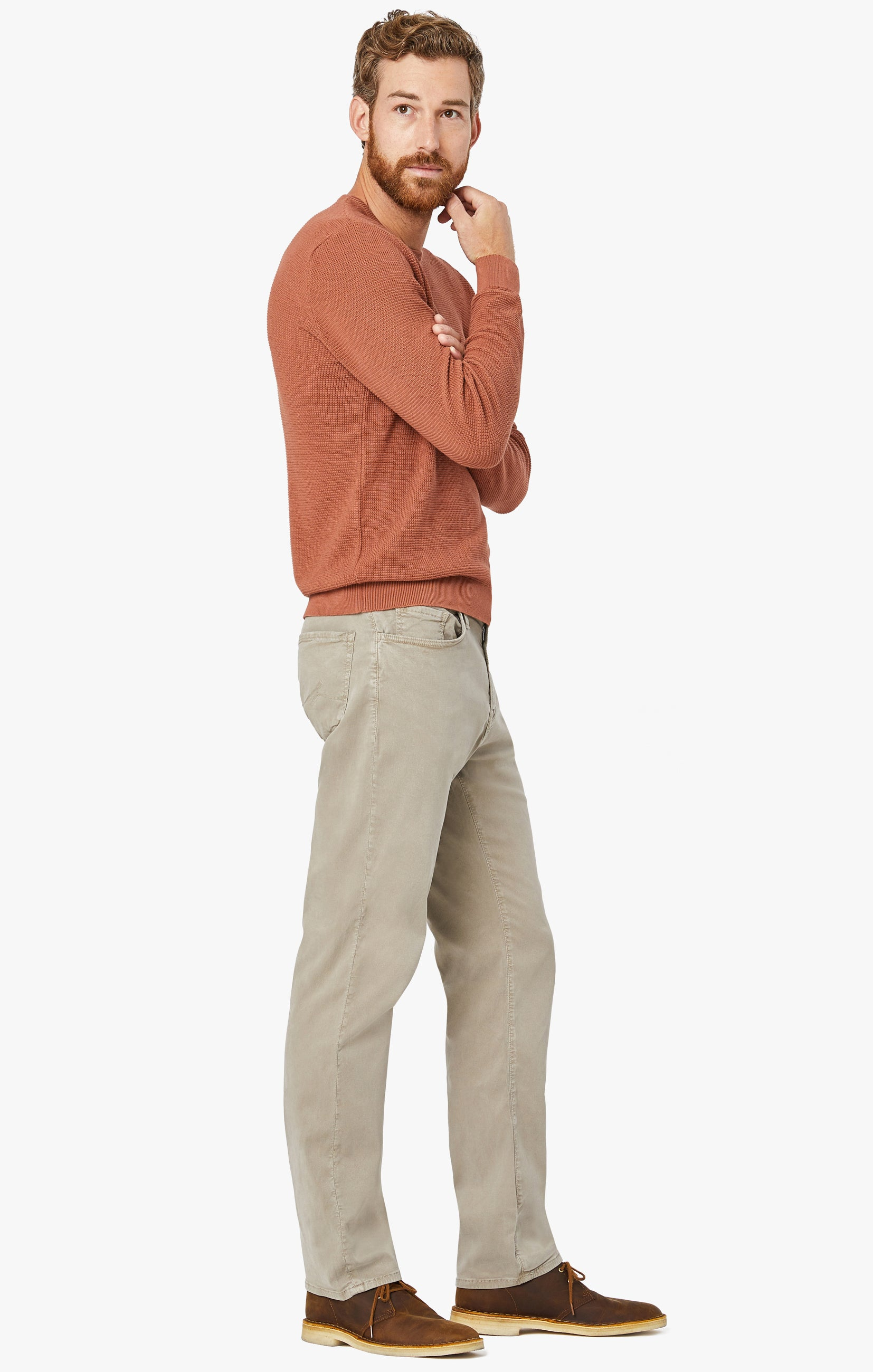 Charisma Classic Fit Pants in Mushroom Soft Touch Image 7