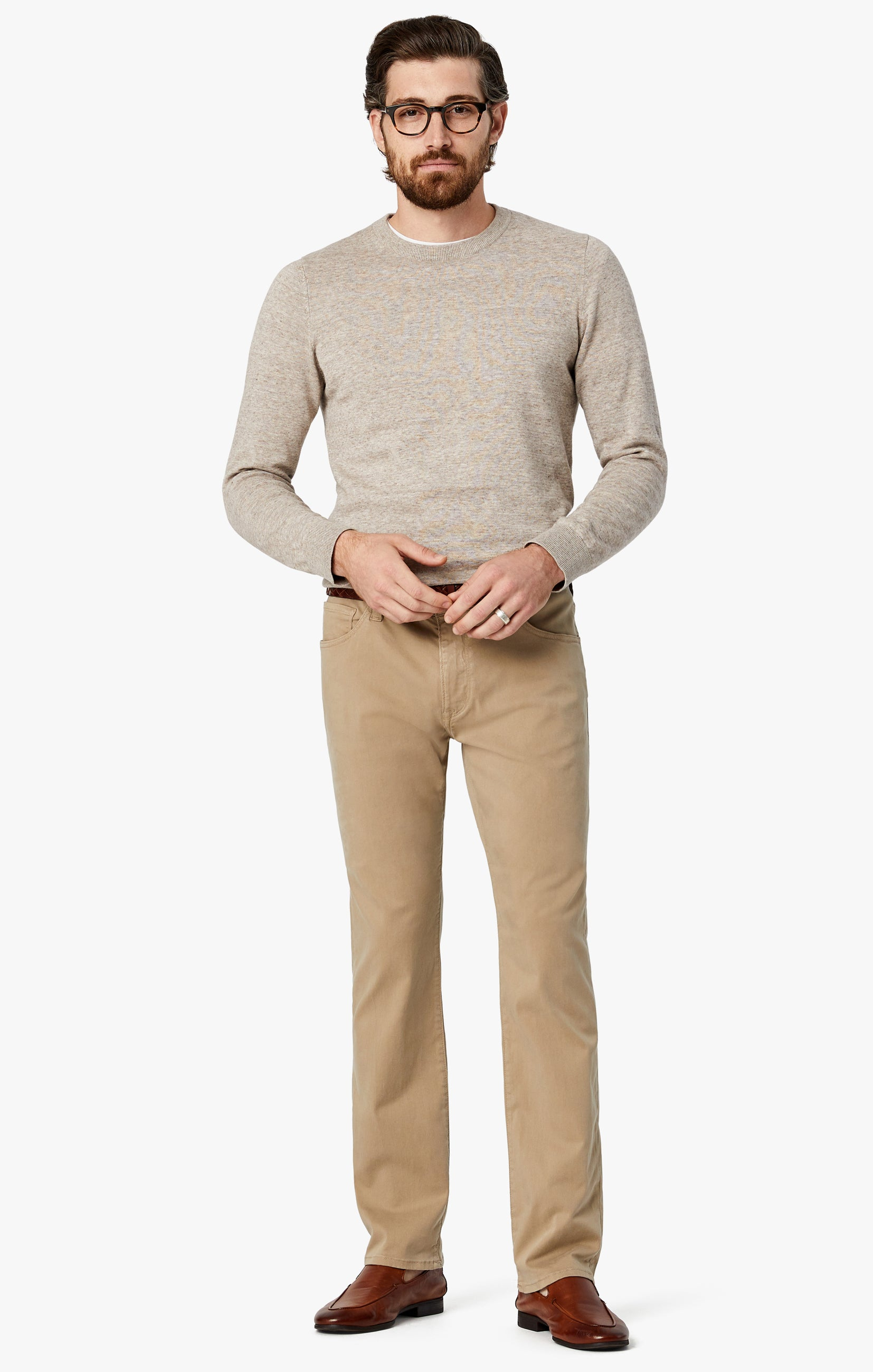 Courage Straight Leg Pants in Sand Twill Image 1