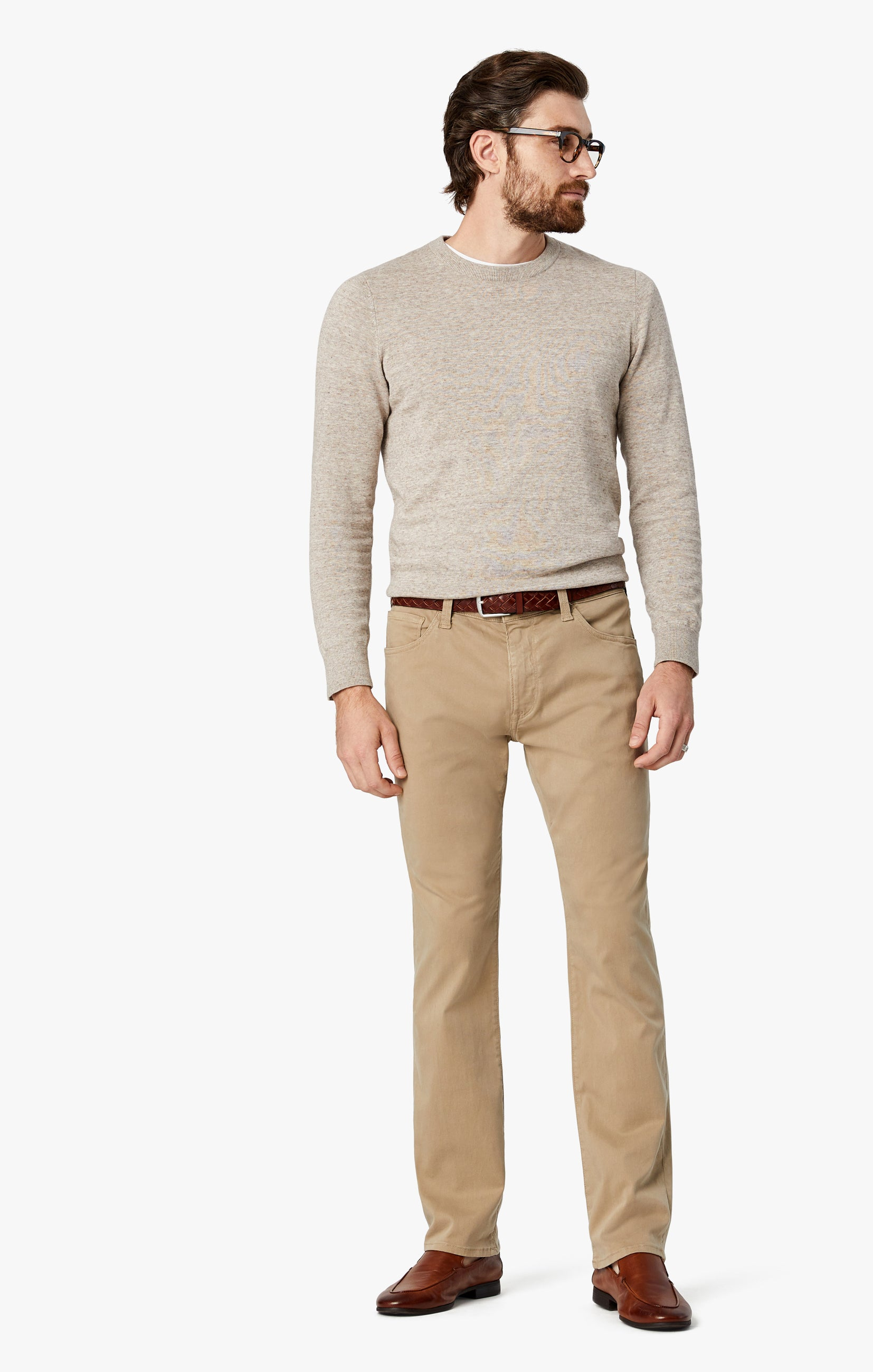 Courage Straight Leg Pants in Sand Twill Image 2