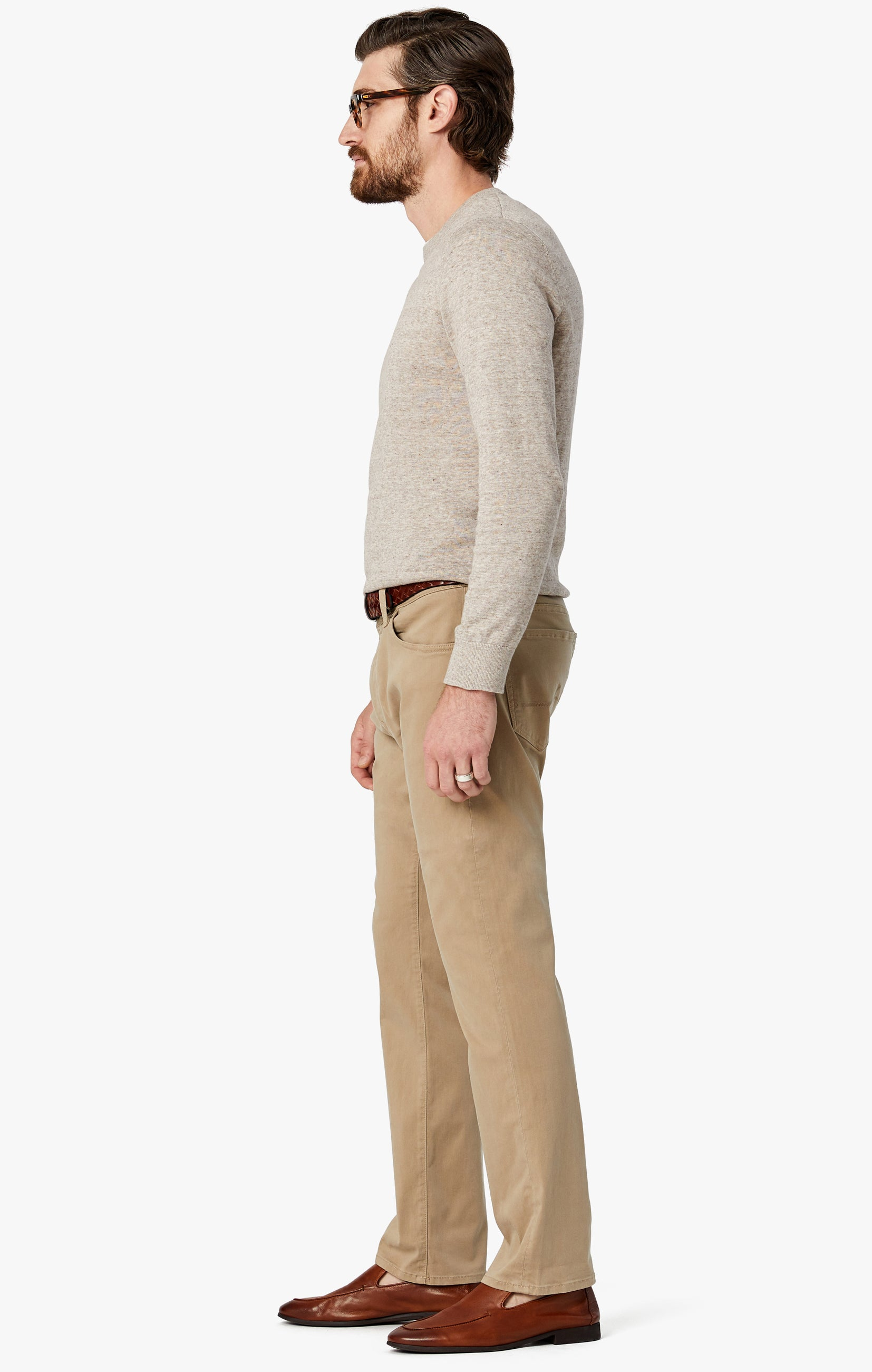 Courage Straight Leg Pants in Sand Twill Image 5