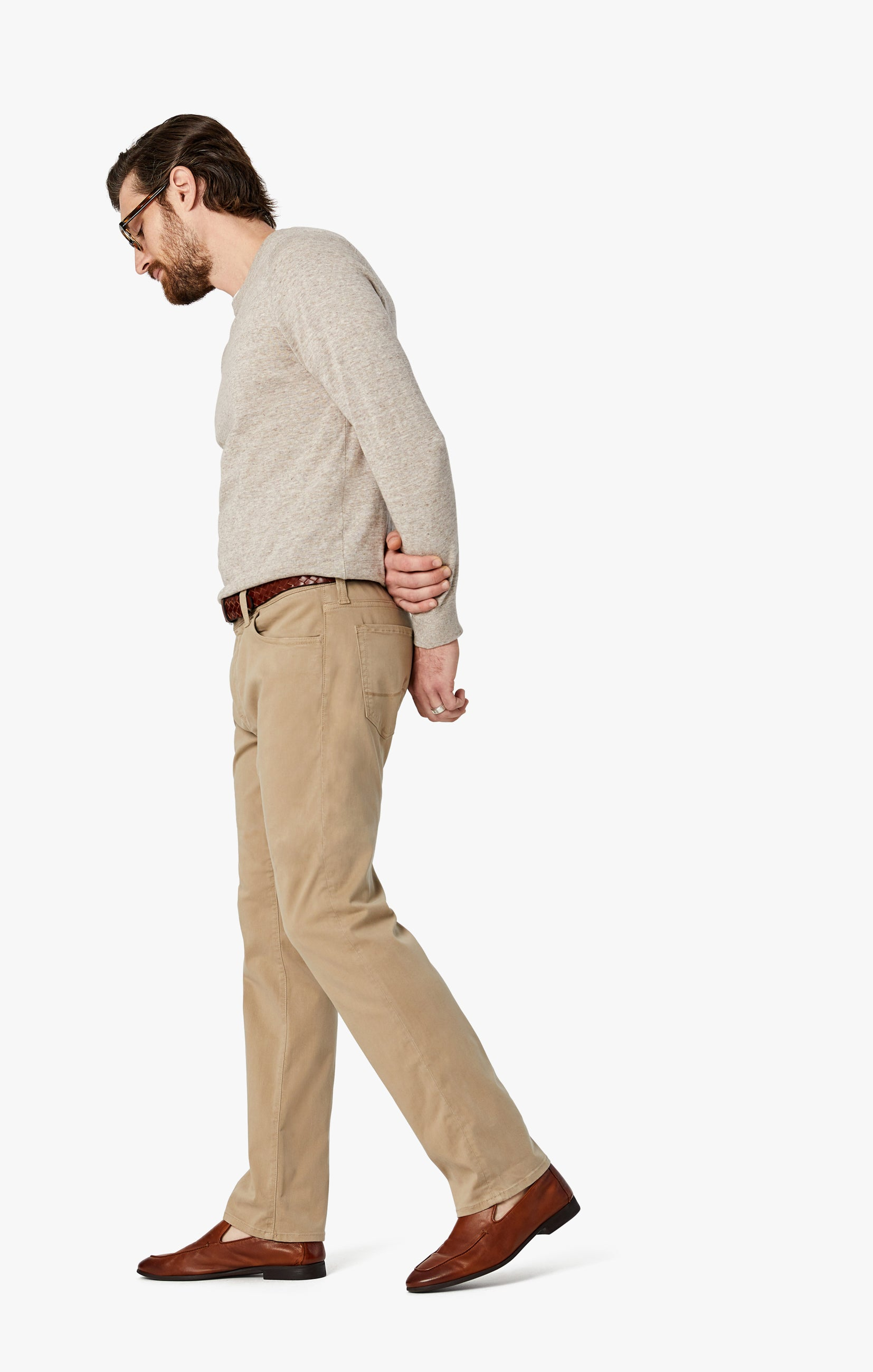 Courage Straight Leg Pants in Sand Twill Image 4