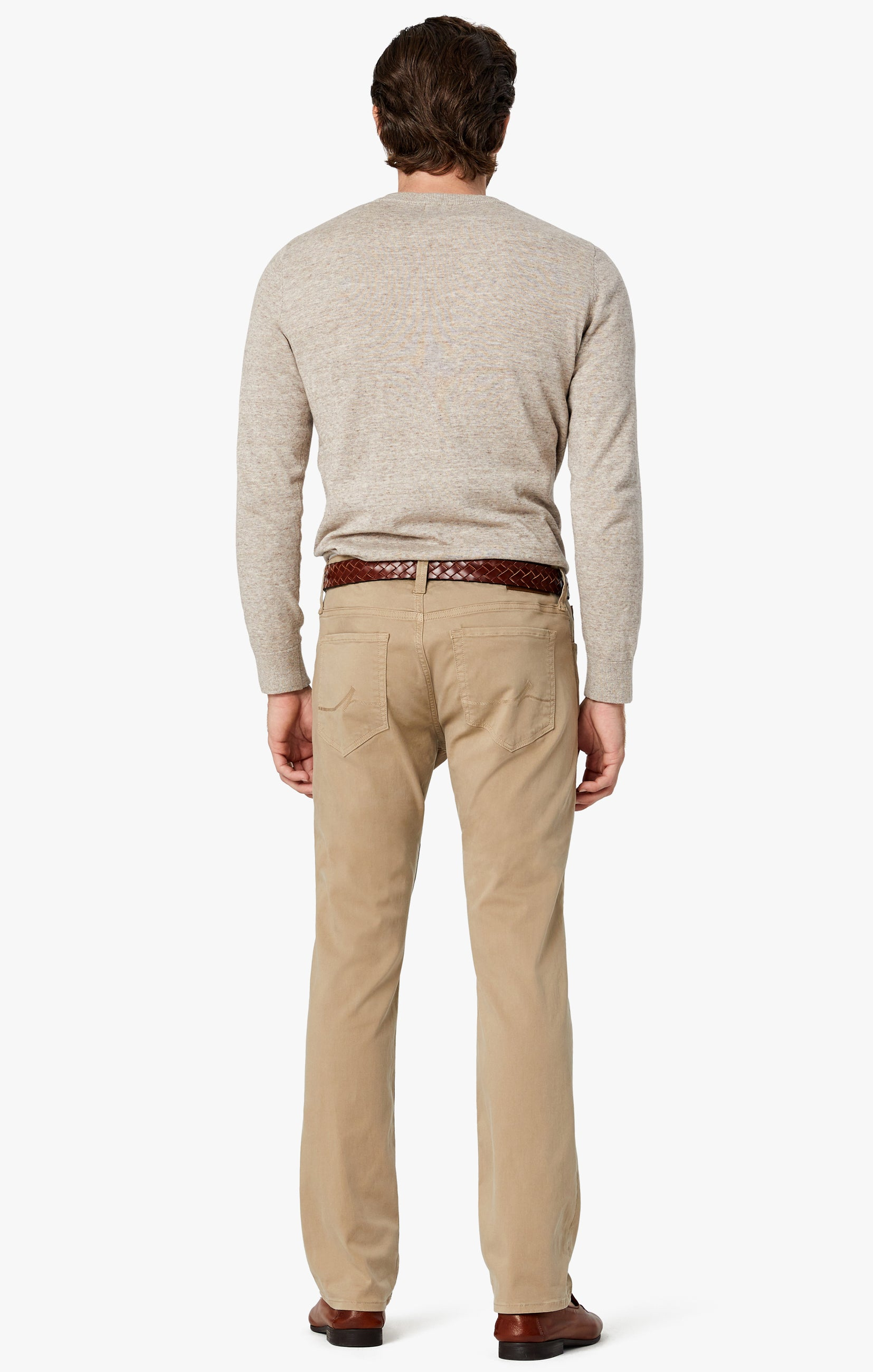 Courage Straight Leg Pants in Sand Twill Image 3