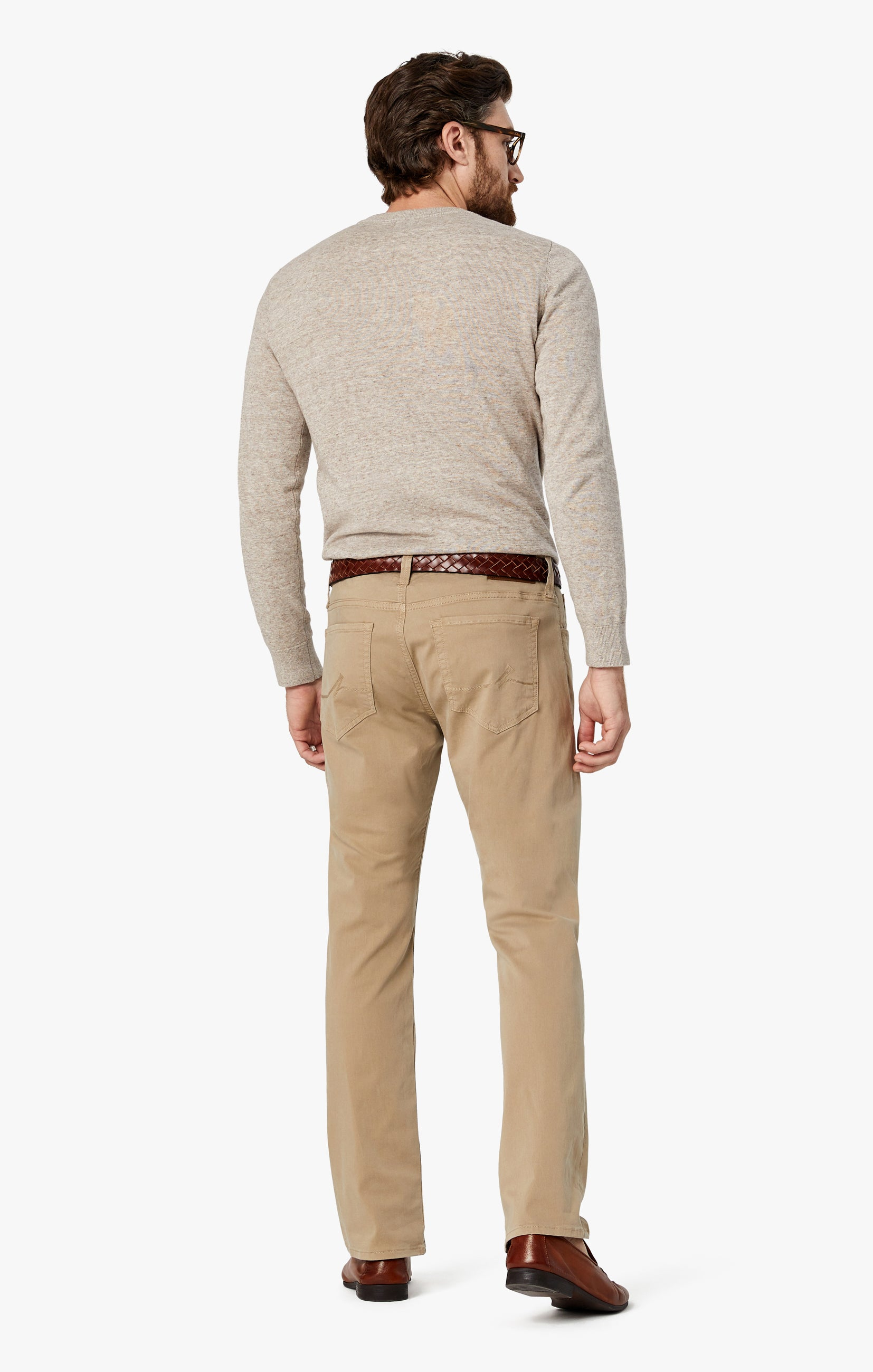 Courage Straight Leg Pants in Sand Twill Image 9
