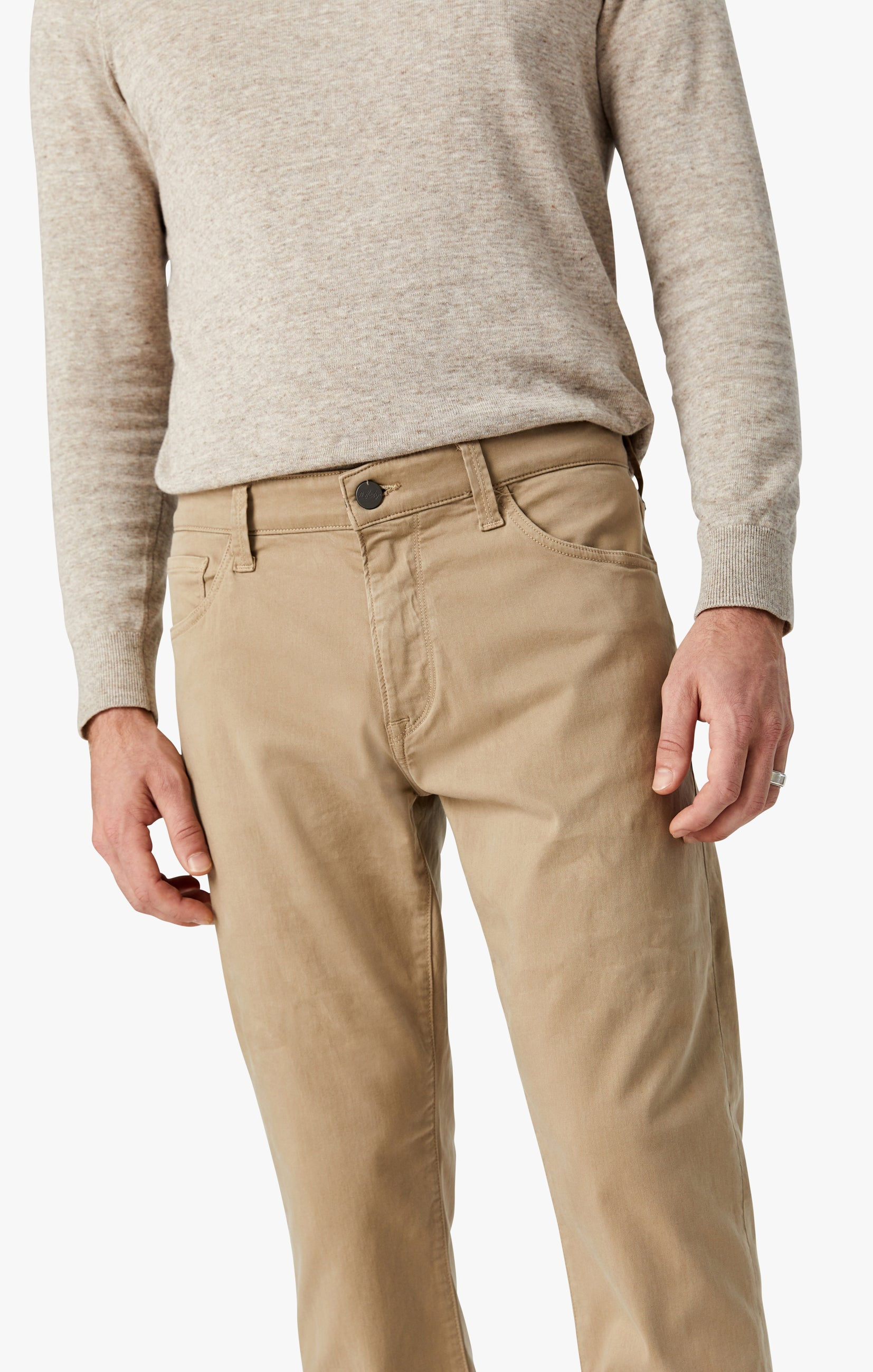 Courage Straight Leg Pants in Sand Twill Image 7