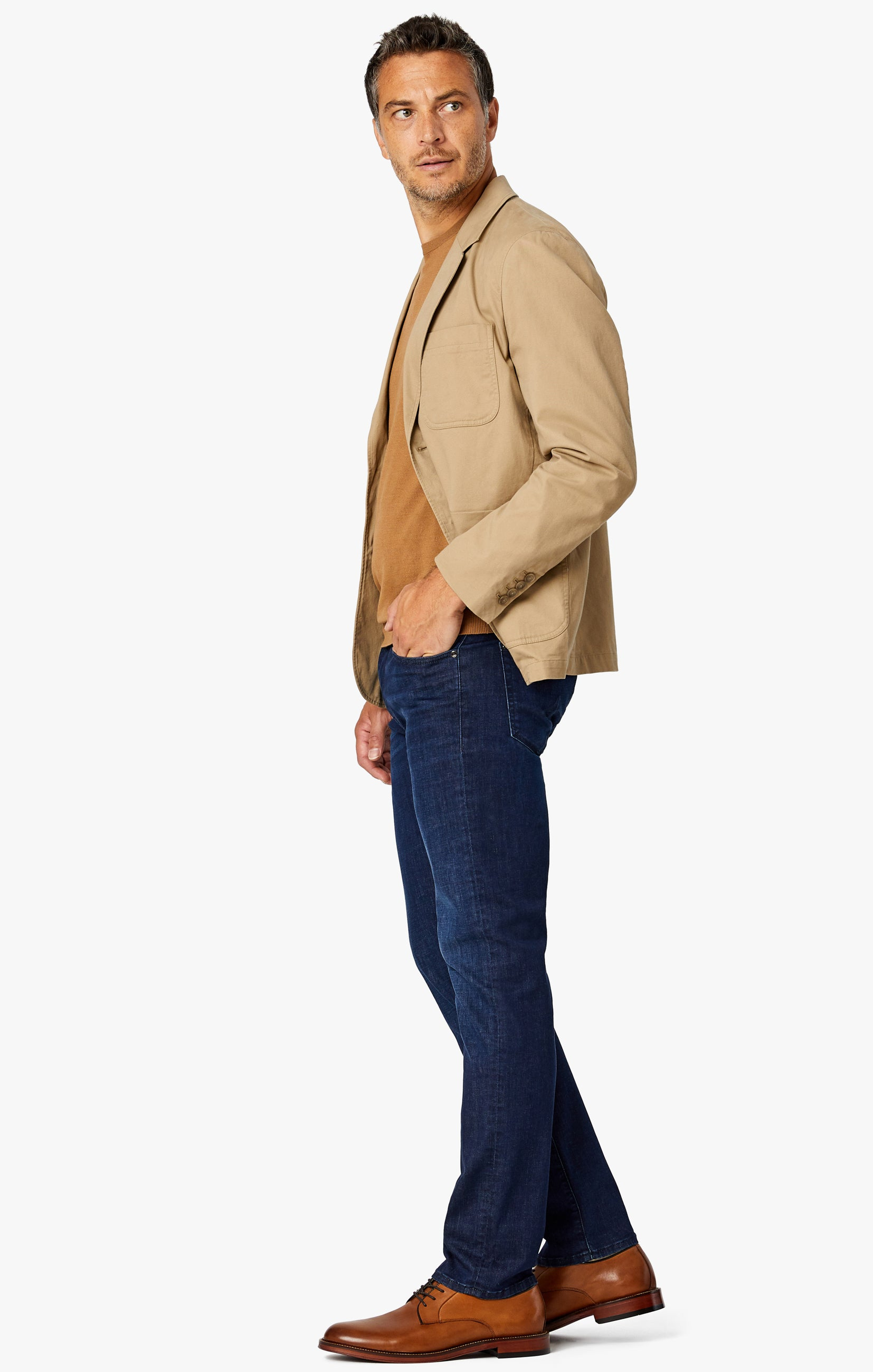 Courage Straight Leg Jeans in Deep Blue Heritage Image 4