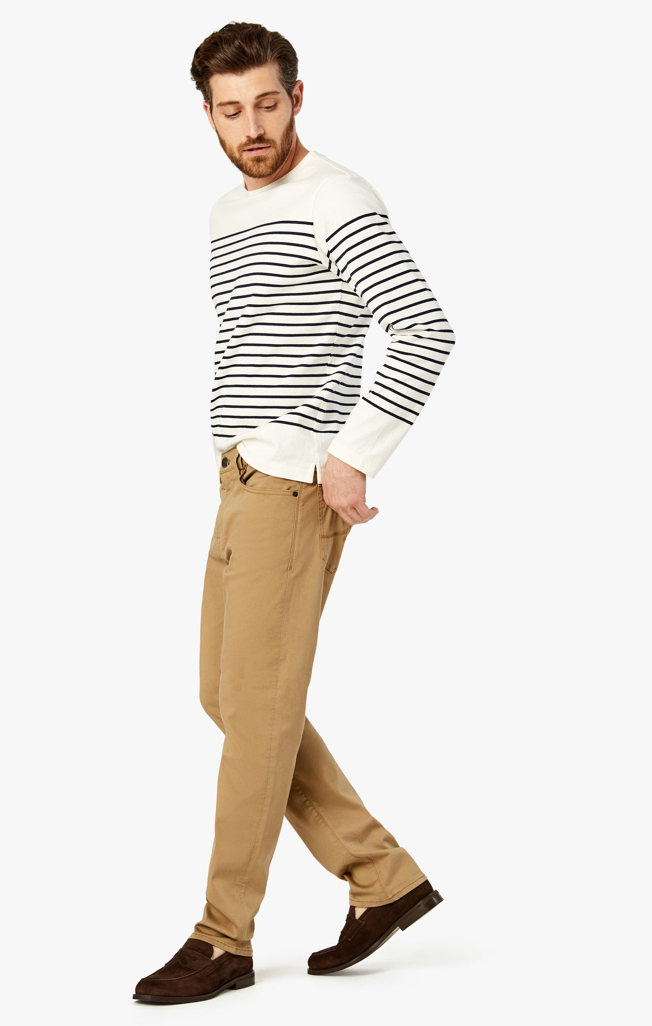 Courage Straight Leg Pants In Khaki Twill