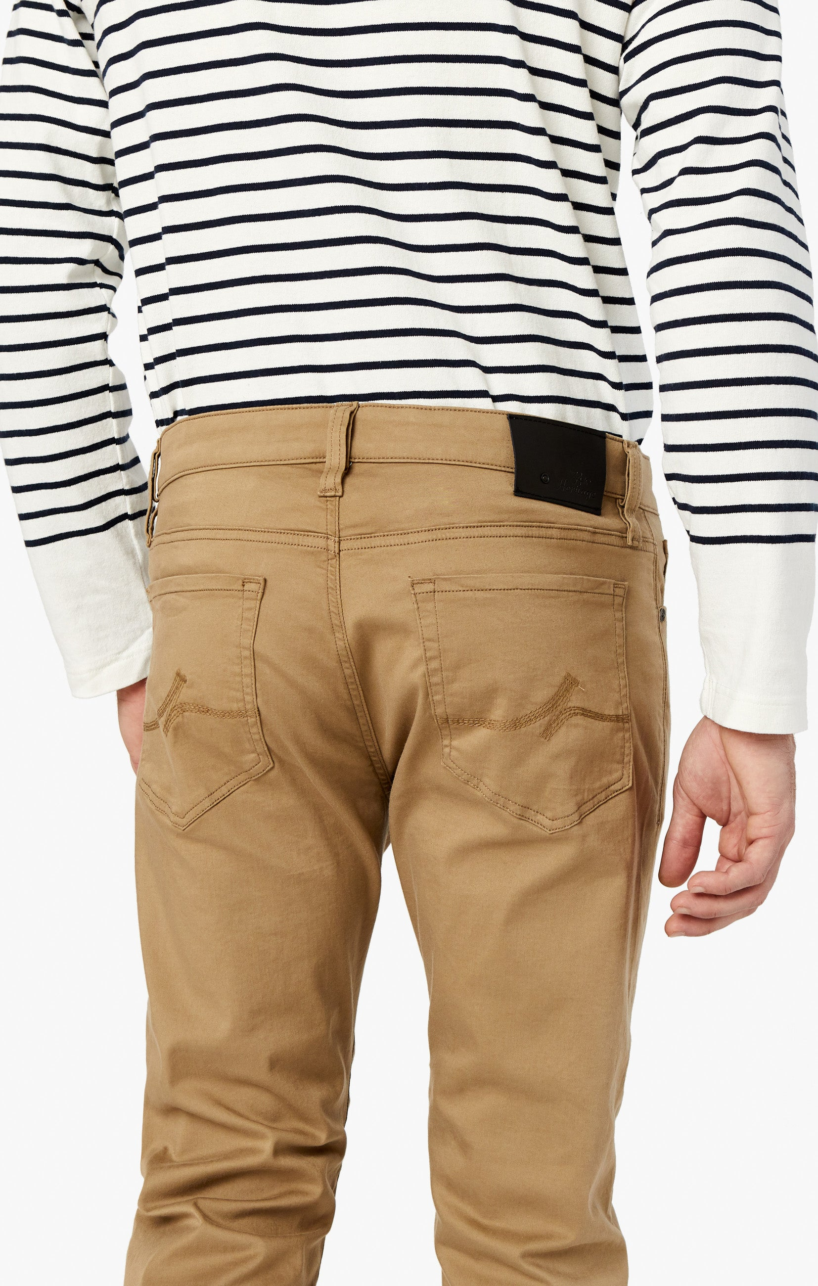 Courage Straight Leg Pants In Khaki Twill Image 4