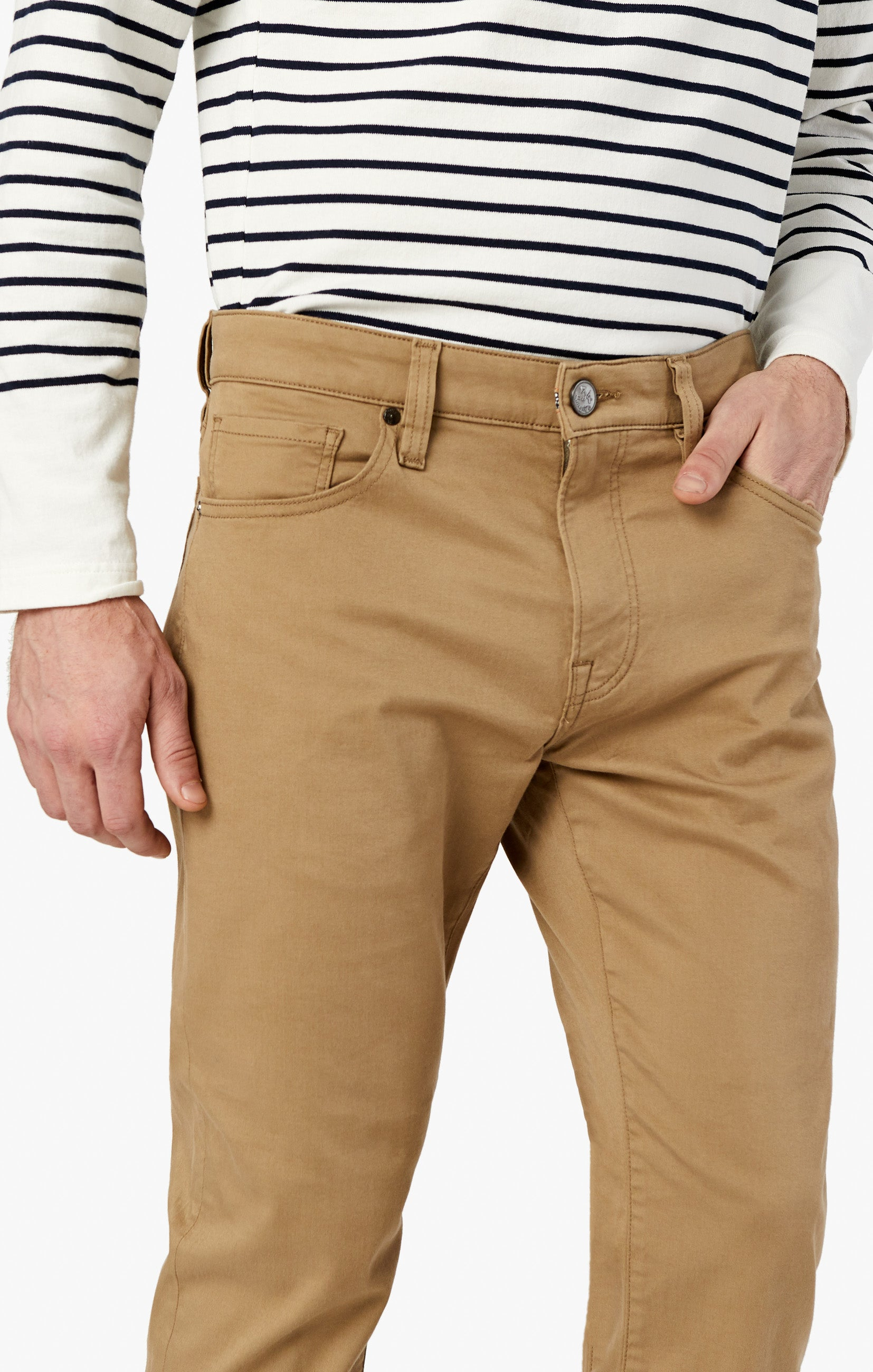 Courage Straight Leg Pants In Khaki Twill Image 5