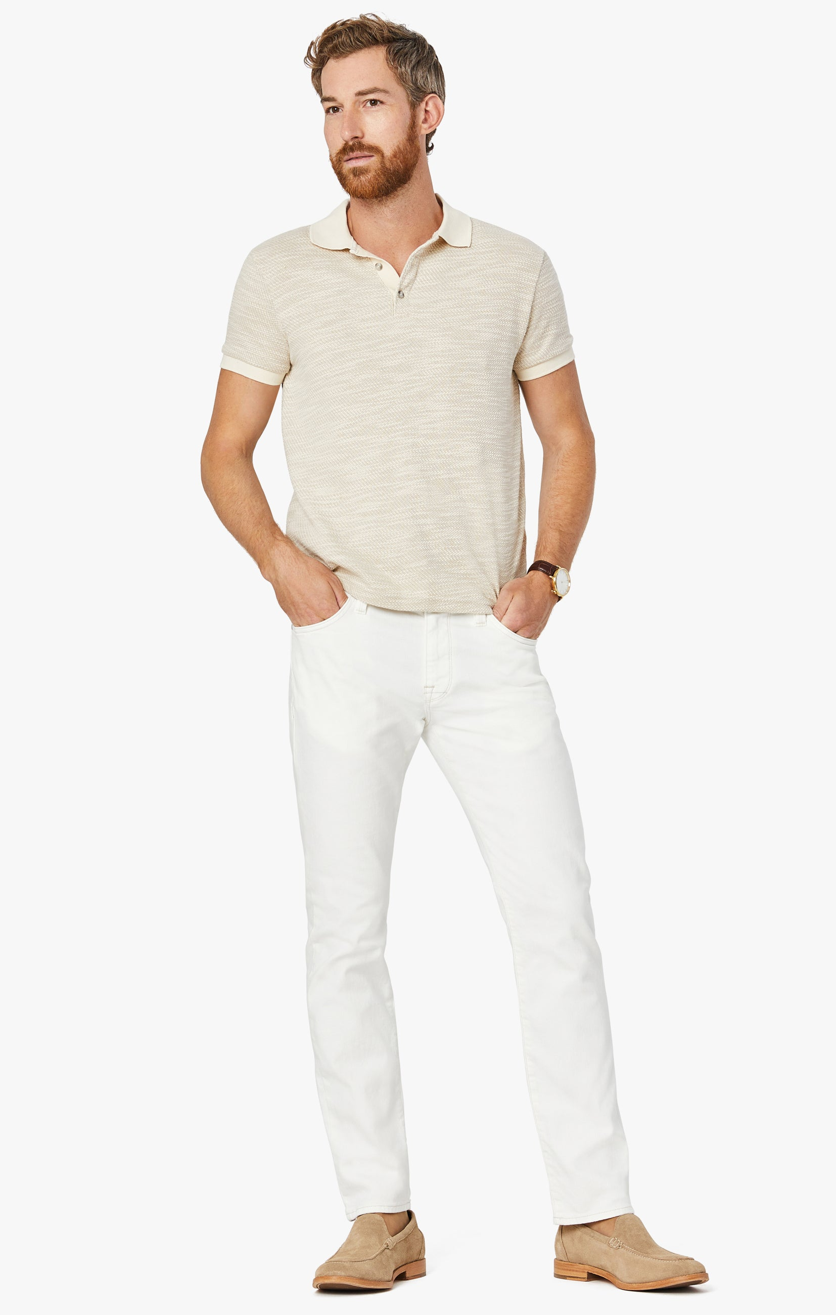 Courage Straight Leg Jeans in White Denim Image 2