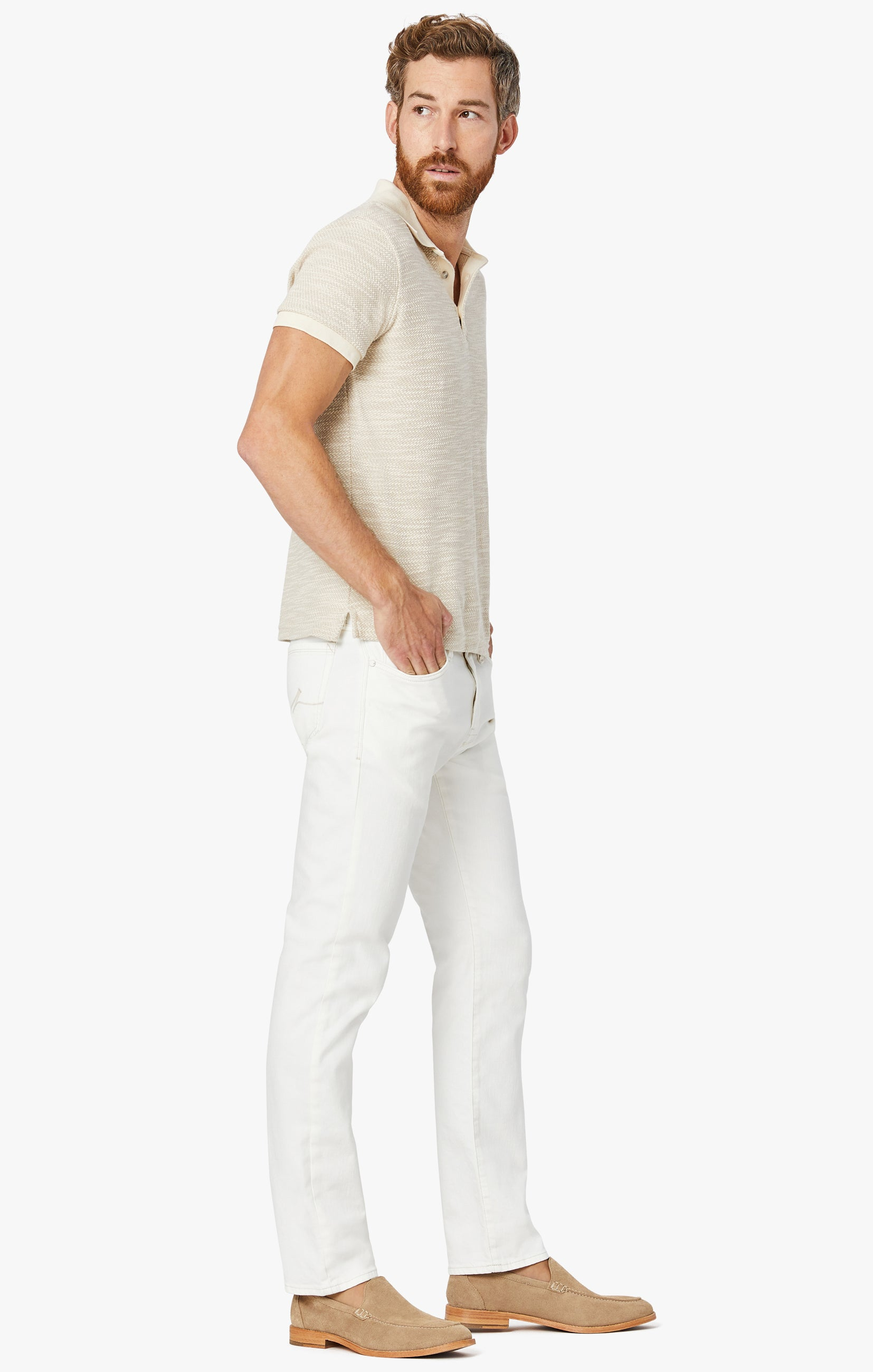 Courage Straight Leg Jeans in White Denim Image 4