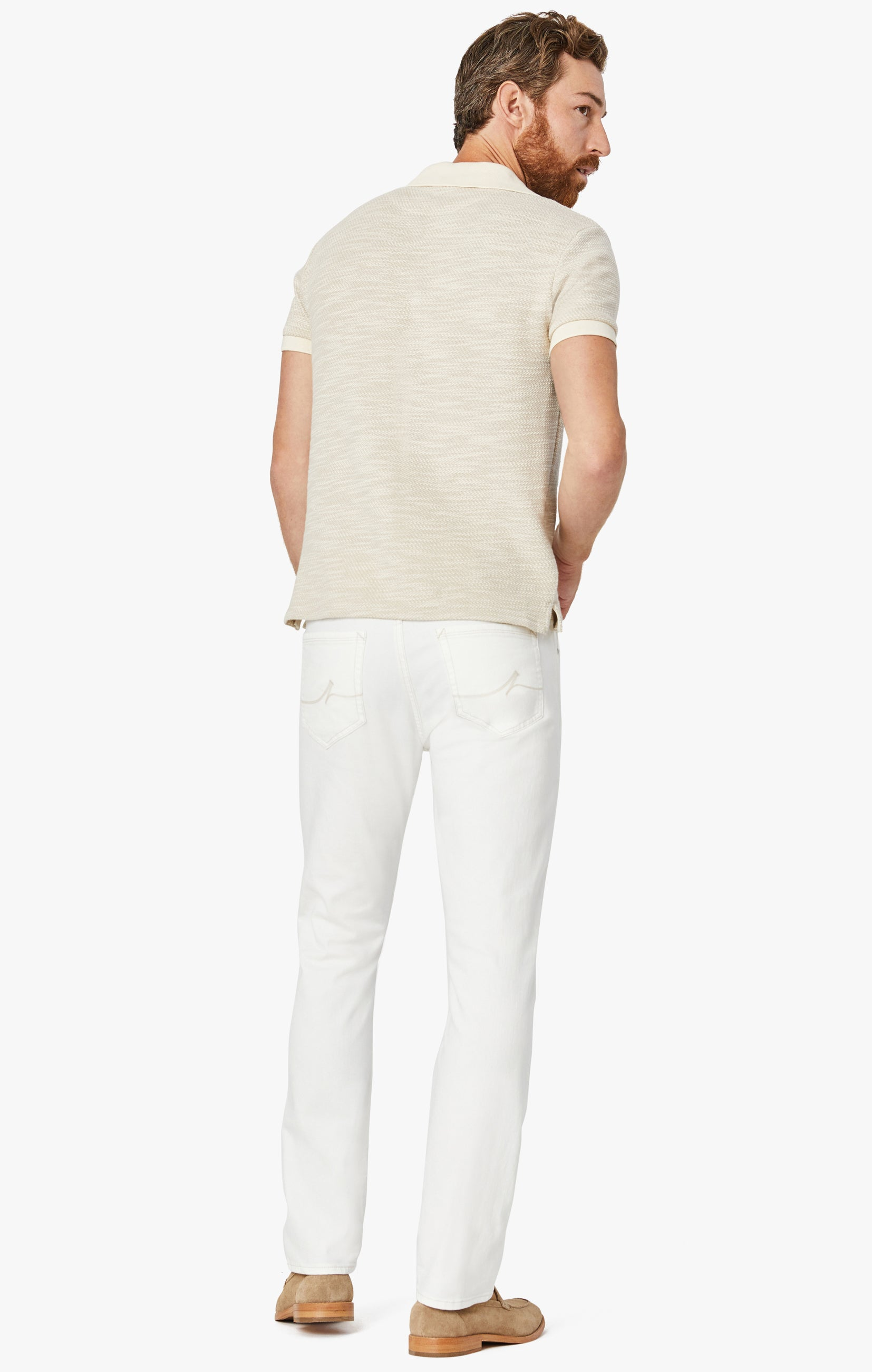 Courage Straight Leg Jeans in White Denim Image 6