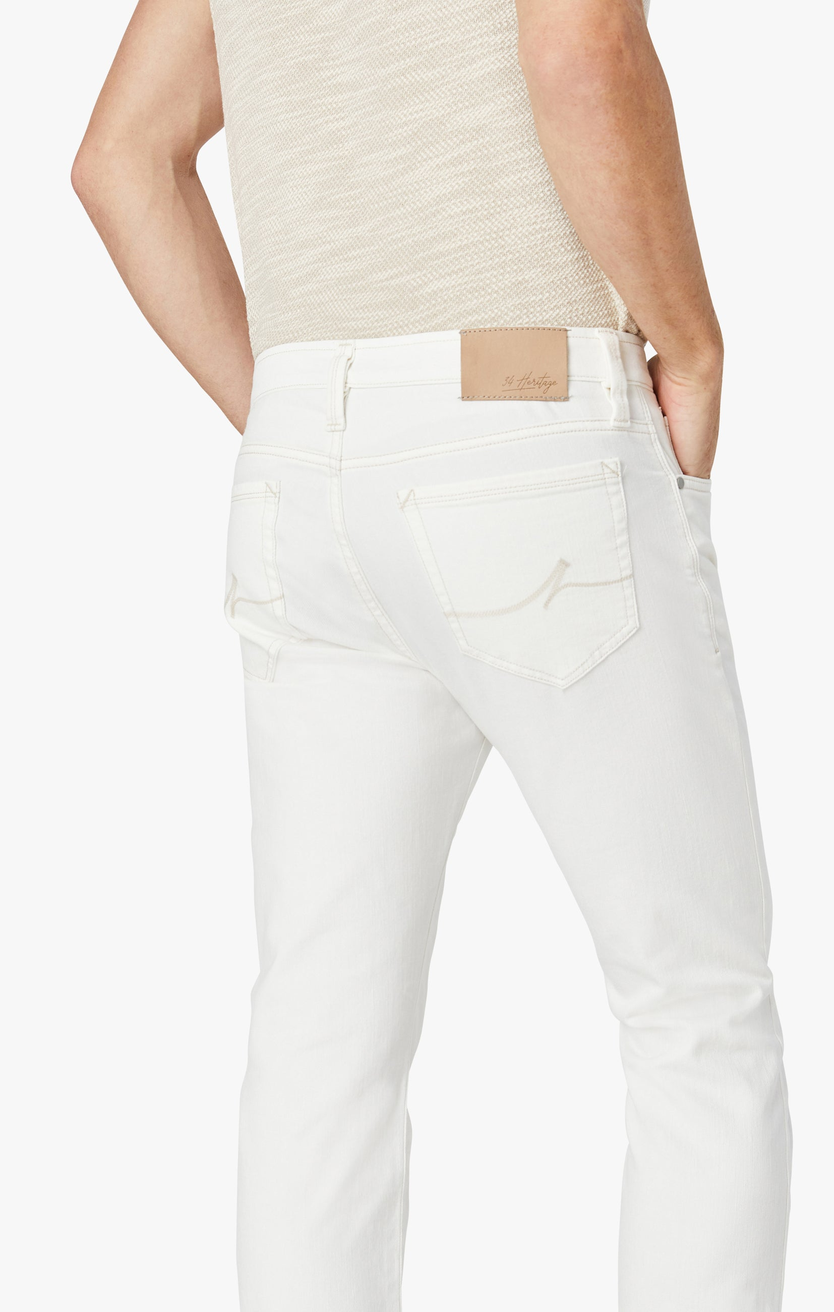 Courage Straight Leg Jeans in White Denim Image 7