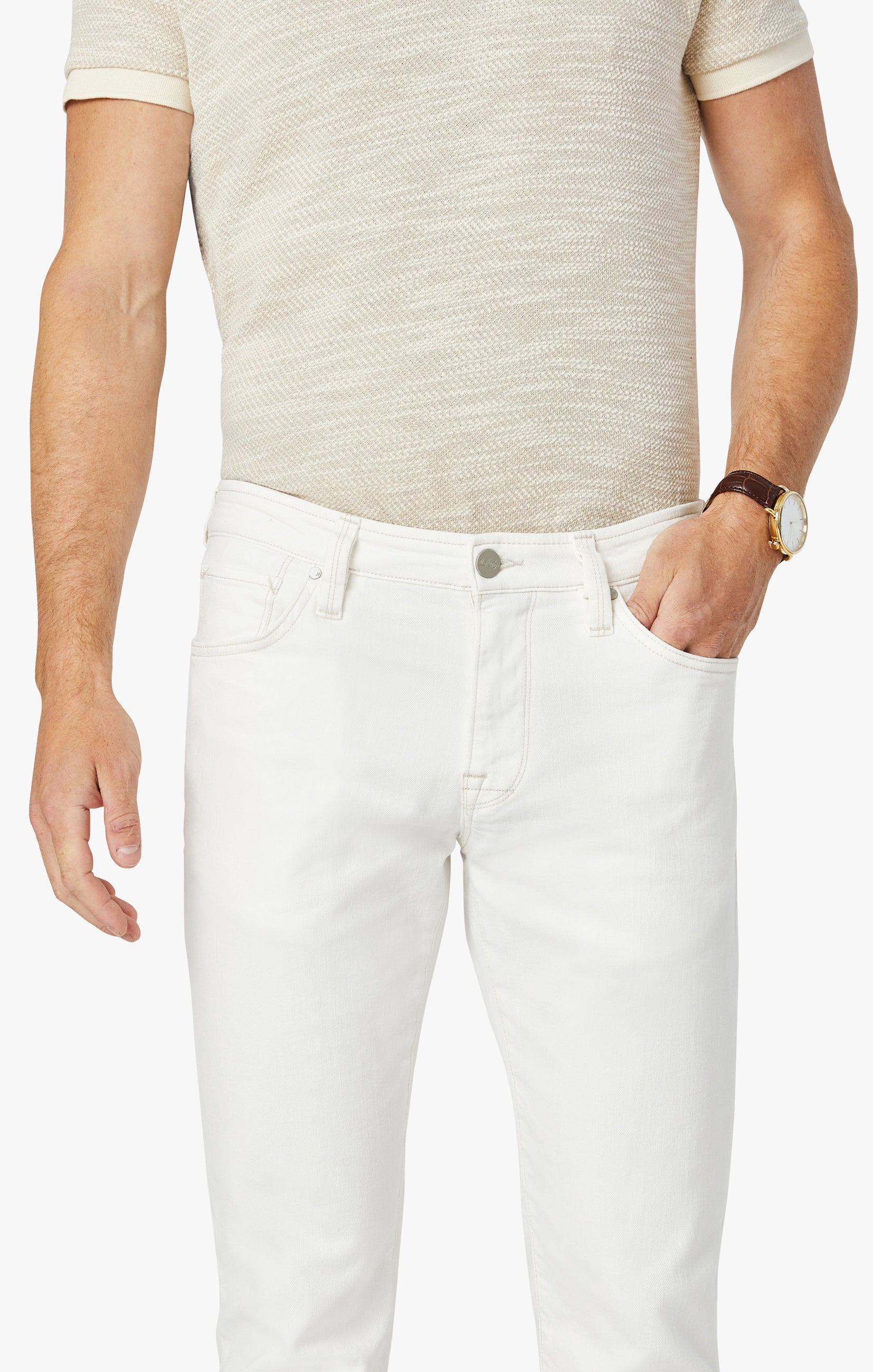 Courage Straight Leg Jeans in White Denim Image 8