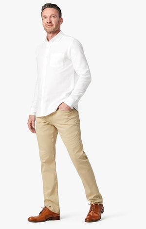 Courage Straight Leg Pants in Tan Twill