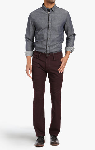 COURAGE STRAIGHT LEG PANTS IN BURGUNDY FEATHER TWILL - 34 Heritage Canada