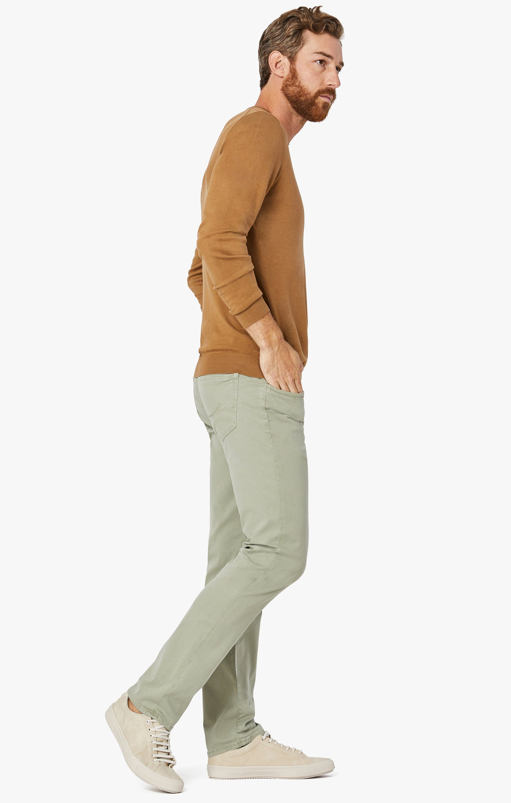 Courage Straight Leg Pants in Sage Soft Touch Image 4
